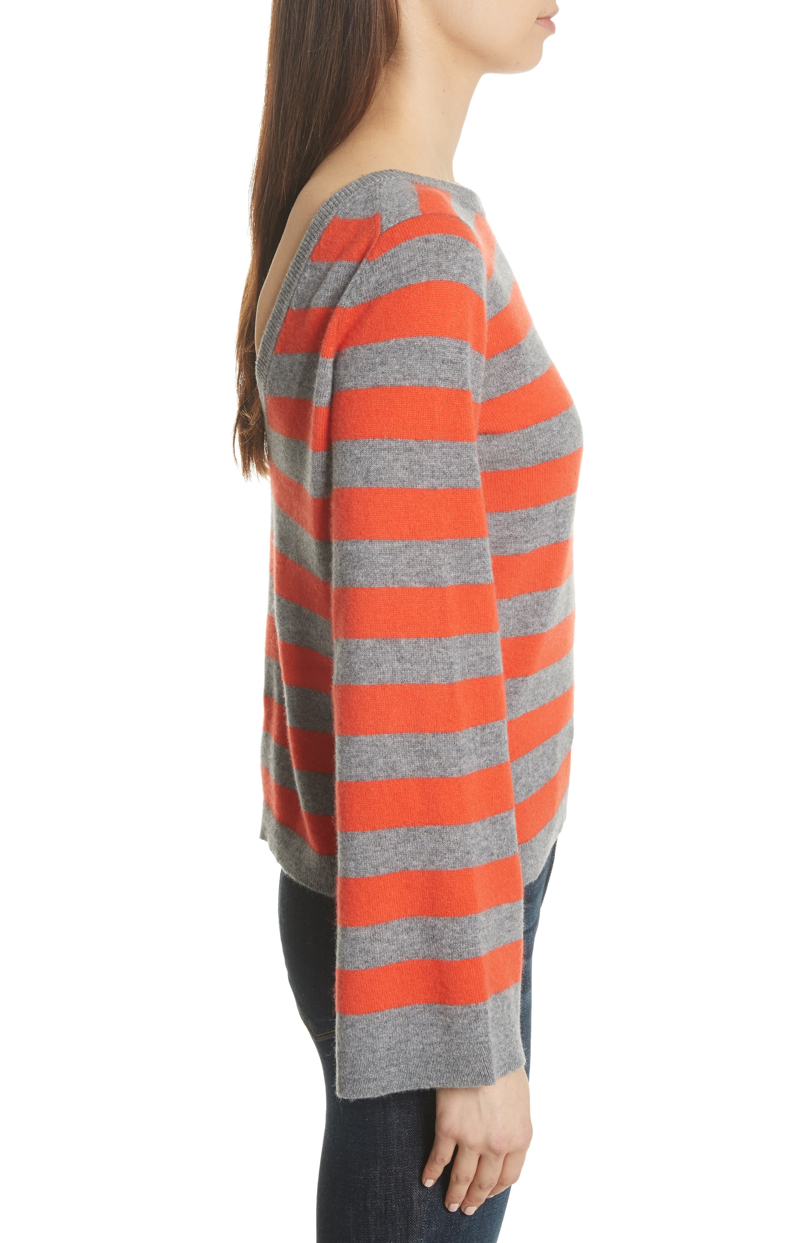 Baxley Stripe Cashmere Sweater,                             Alternate thumbnail 3, color,