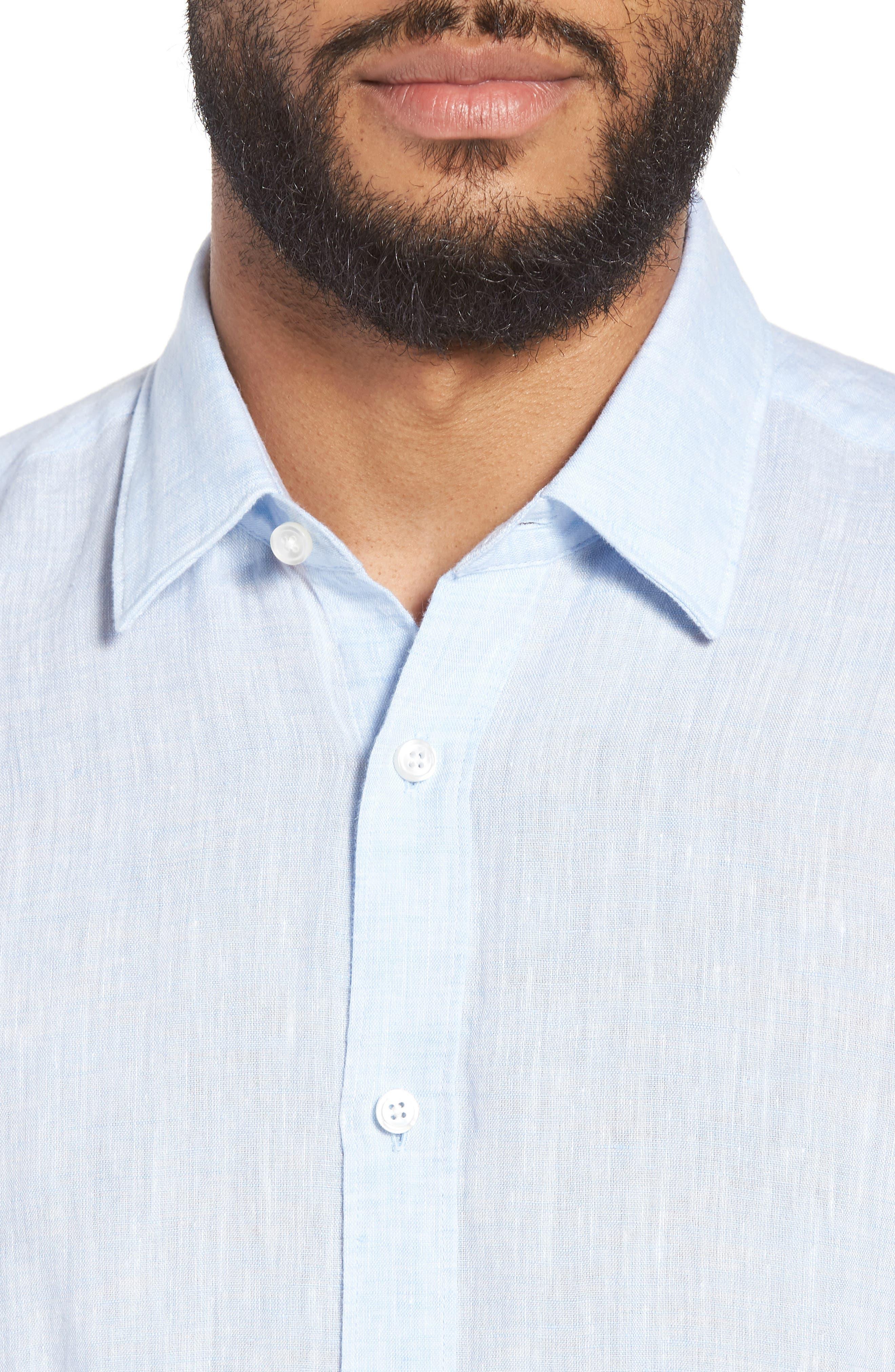 Luka Slim Fit Sport Shirt,                             Alternate thumbnail 4, color,                             412