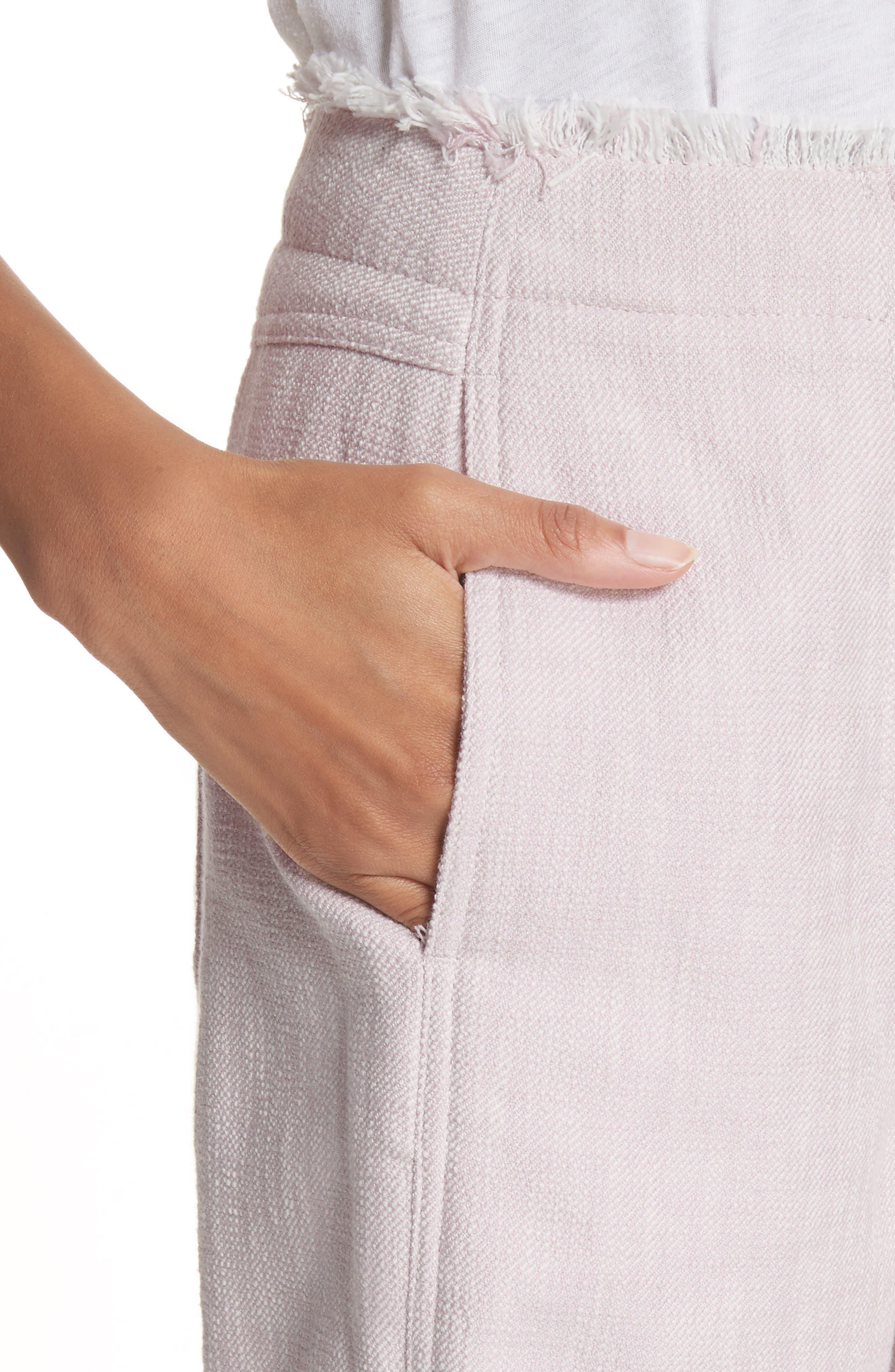 Slub Crop Pants,                             Alternate thumbnail 4, color,