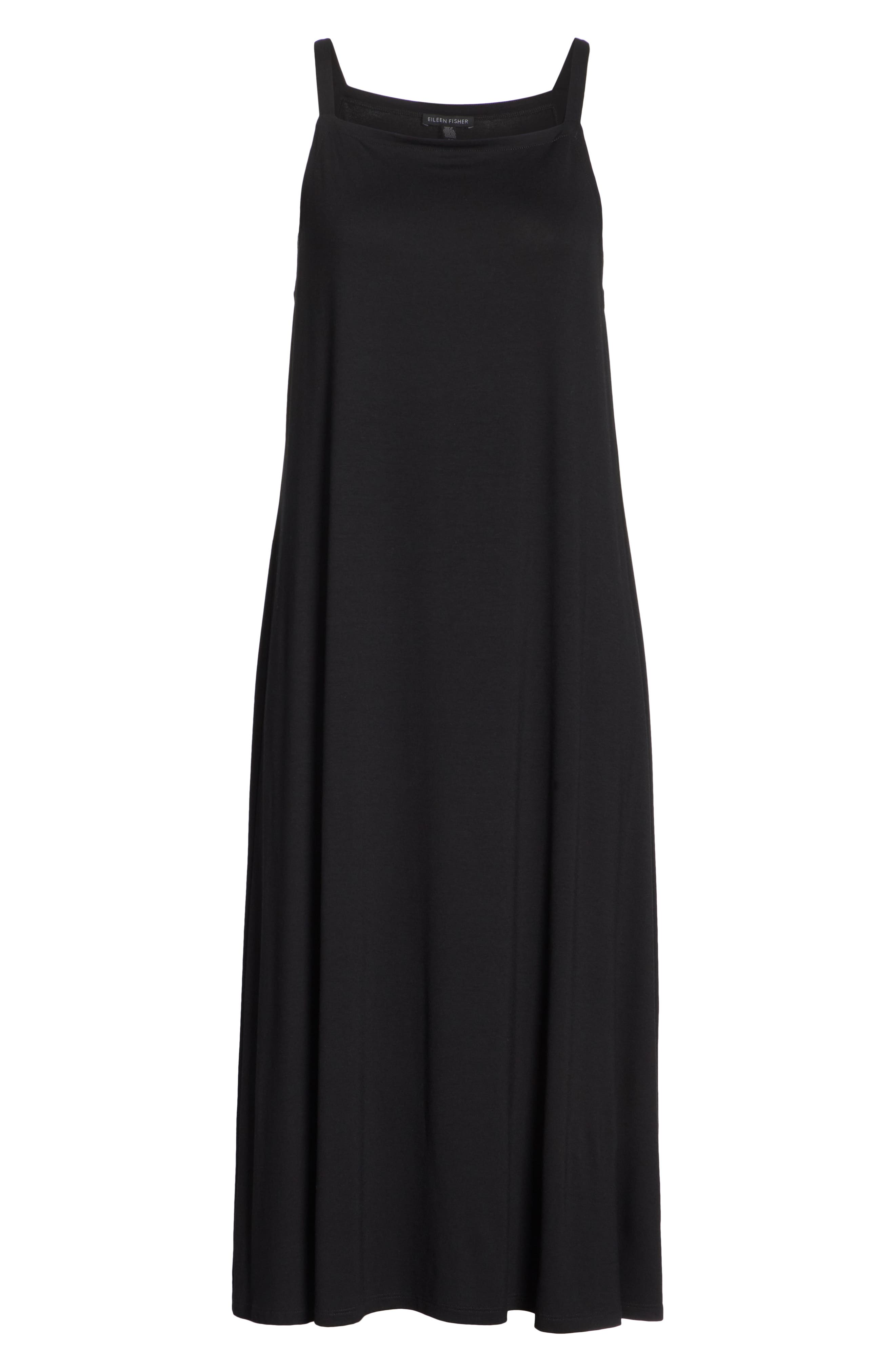 Cami Dress,                             Alternate thumbnail 7, color,                             BLACK