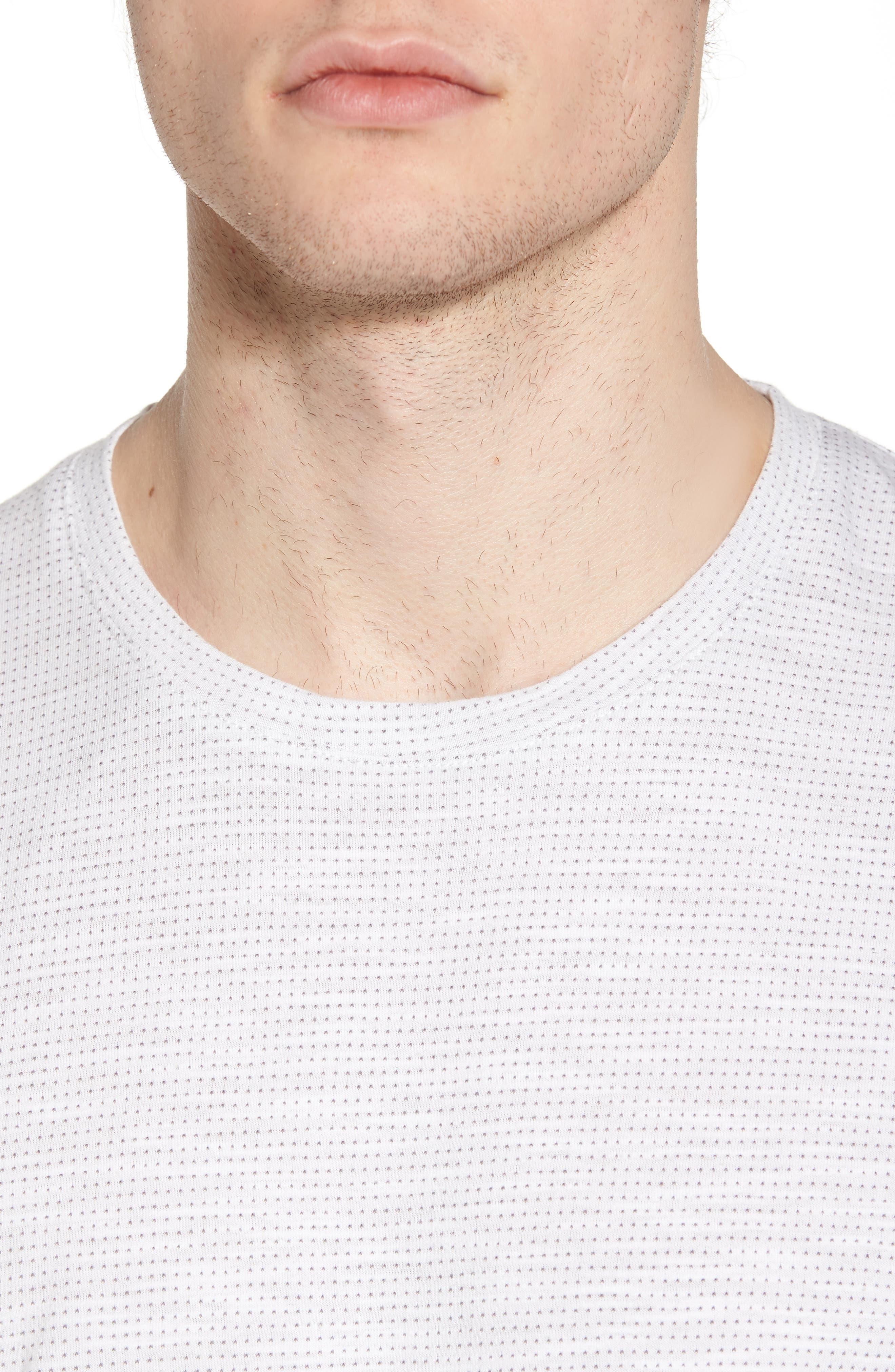 Slub Jacquard T-Shirt,                             Alternate thumbnail 4, color,                             111