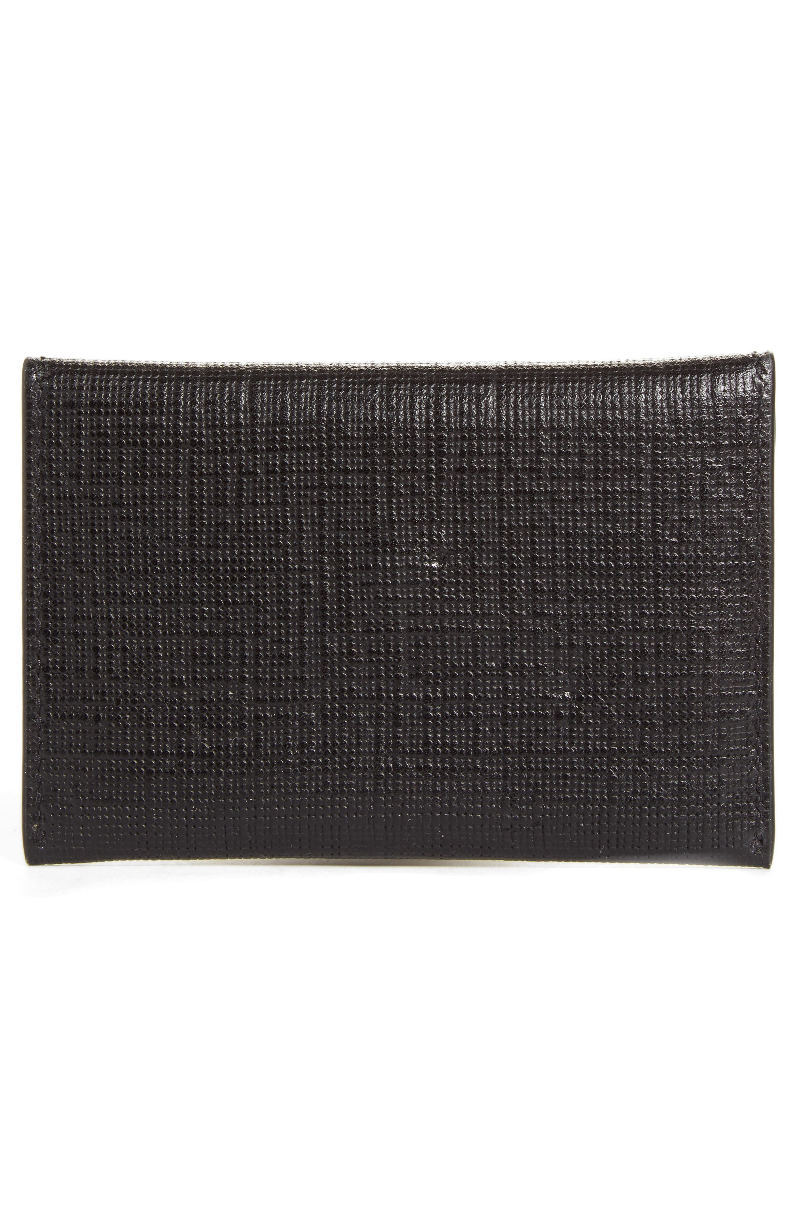 Embossed Leather Envelope Card Case,                             Alternate thumbnail 2, color,                             001