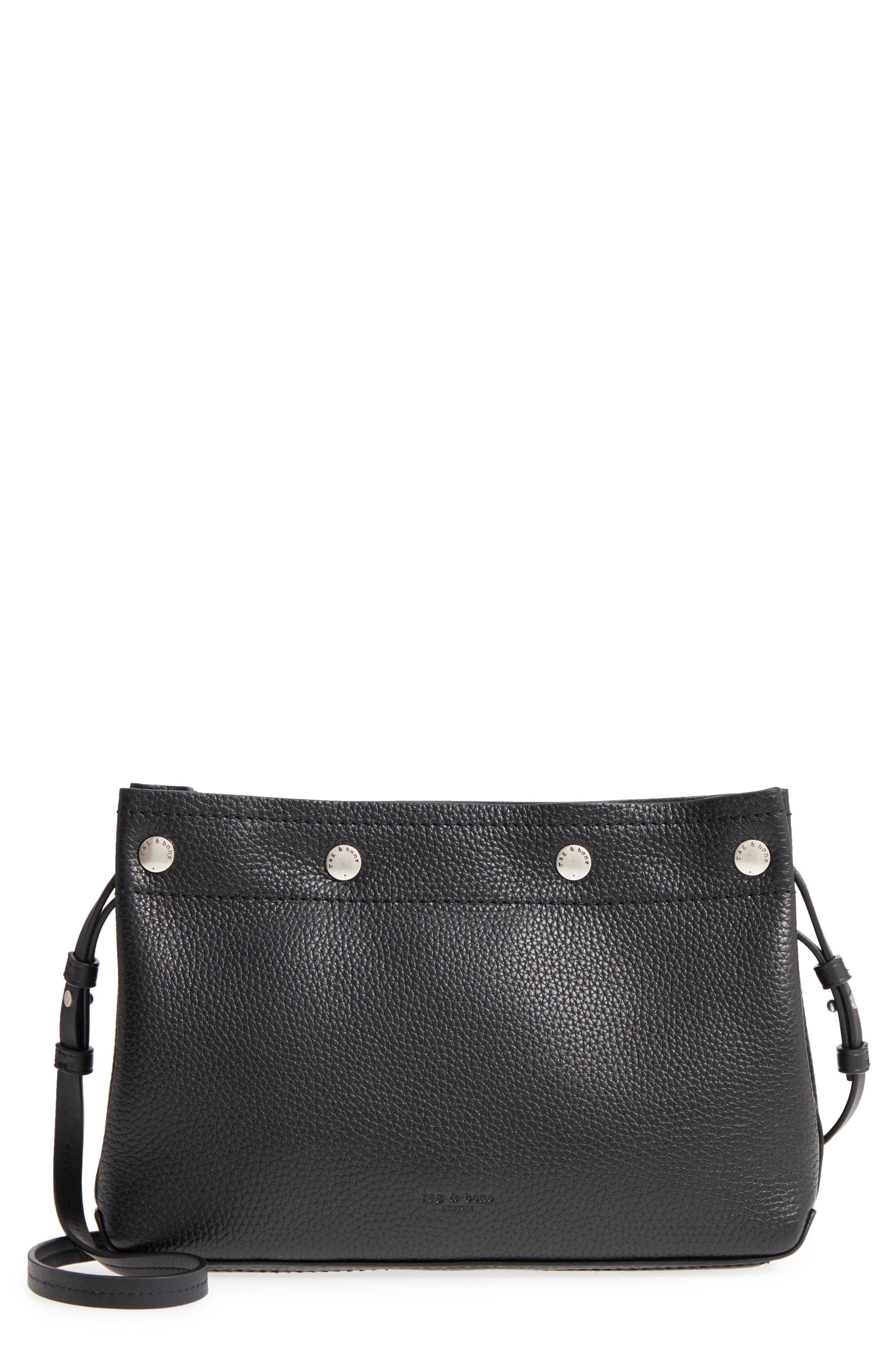 Compass Snap Crossbody Bag,                         Main,                         color, BLACK