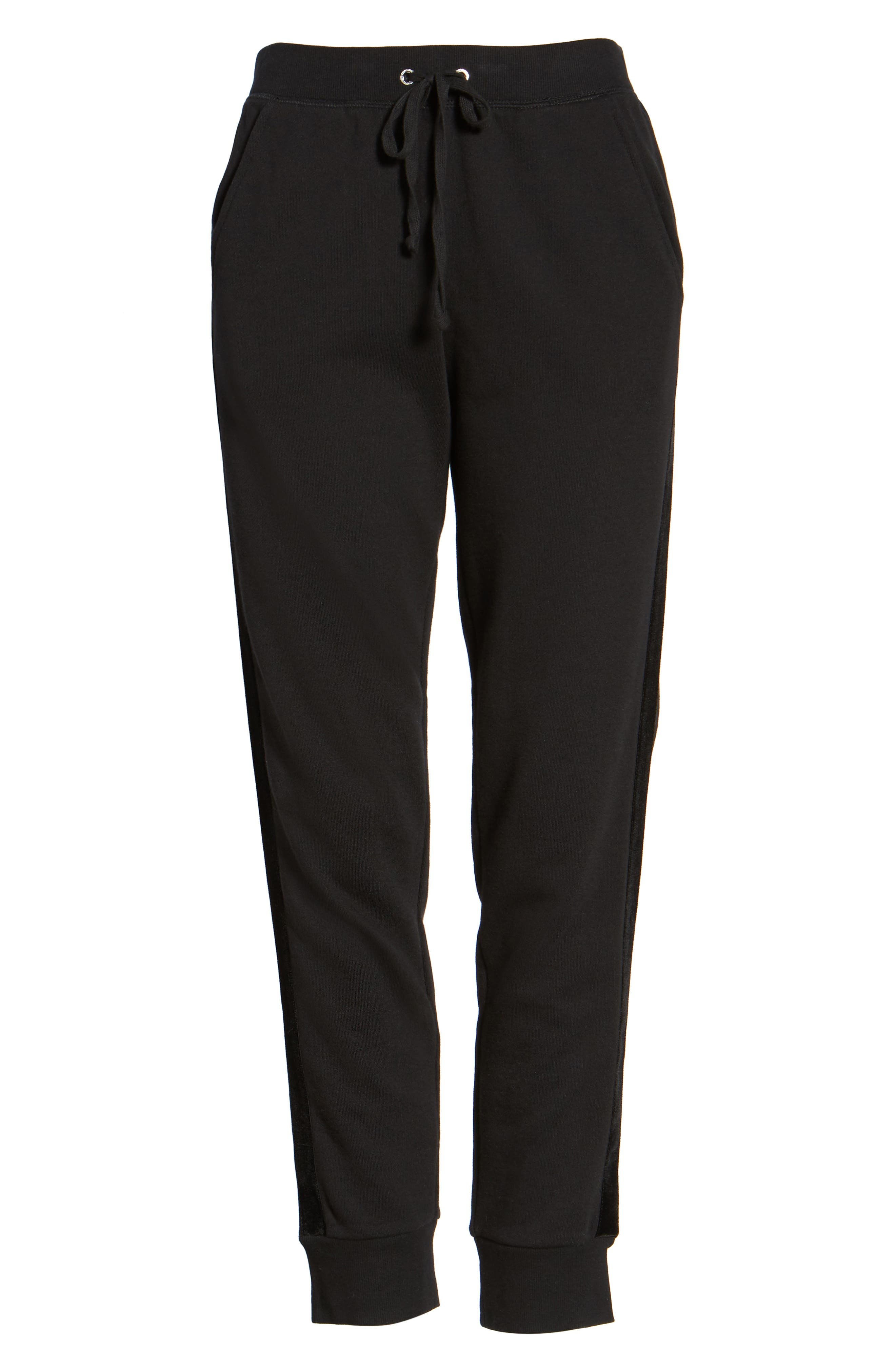 Elevate French Terry Track Pants,                             Alternate thumbnail 6, color,                             009