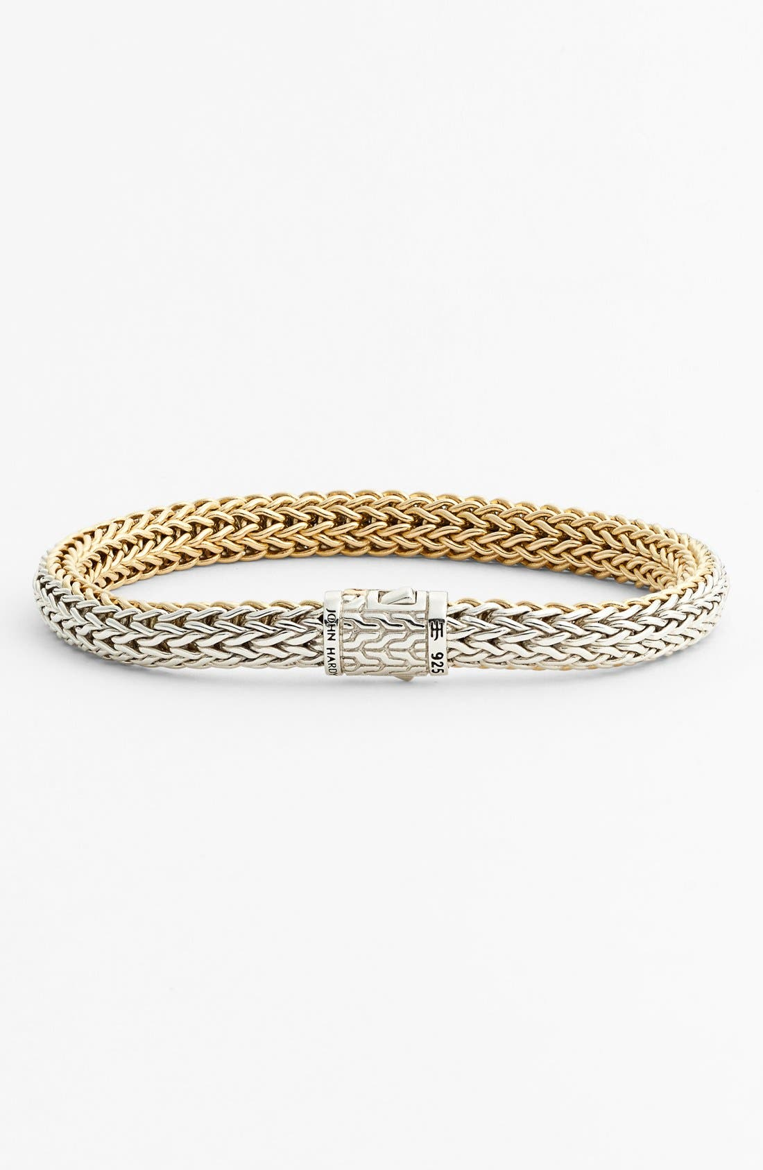 'Classic Chain' Small Reversible Bracelet,                             Main thumbnail 1, color,                             GOLD/ SILVER