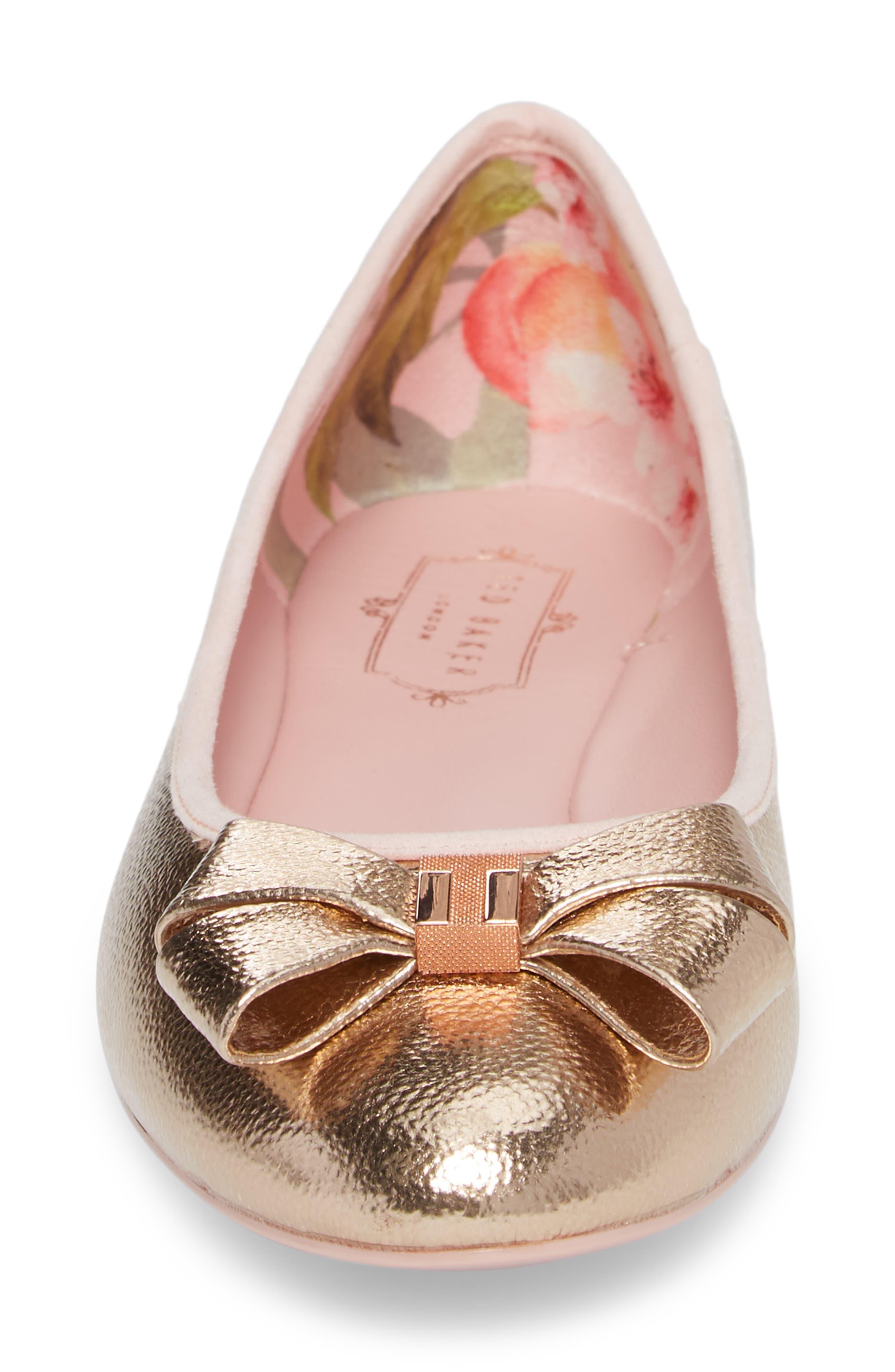 Immet Ballet Flat,                             Alternate thumbnail 4, color,                             ROSE GOLD