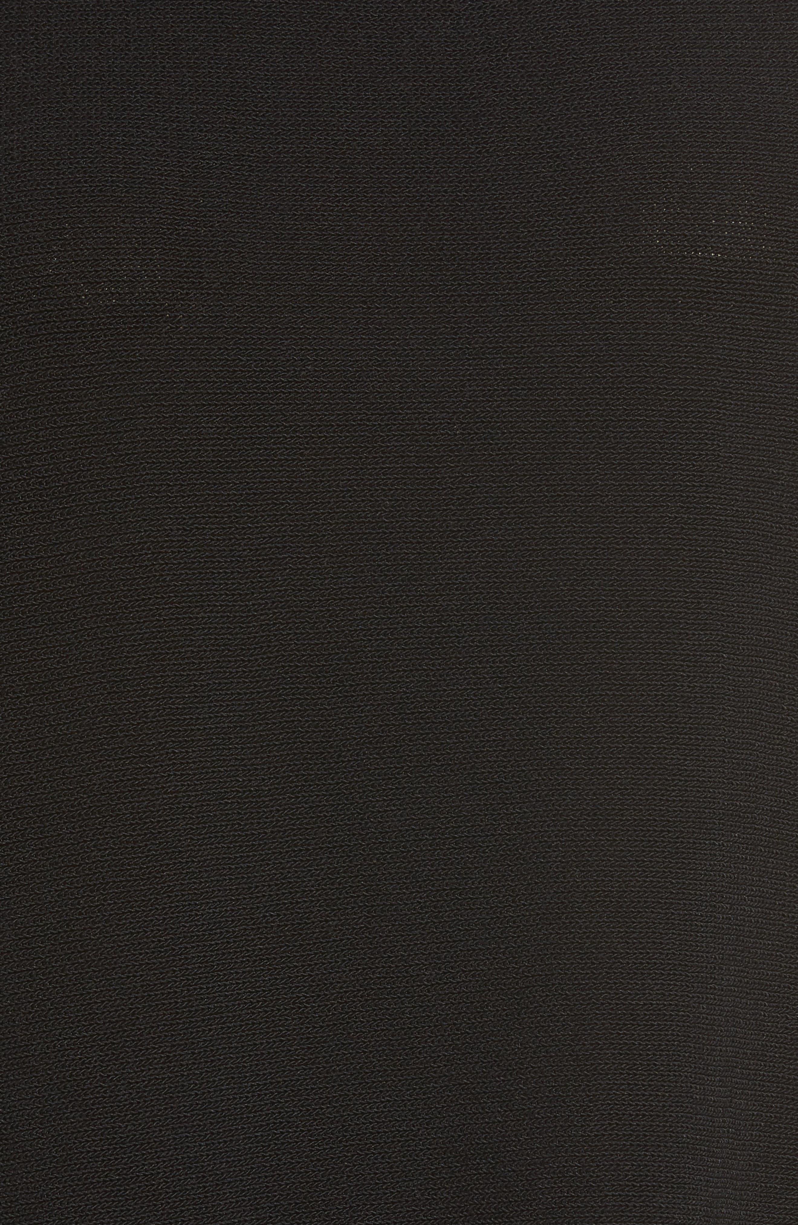 Organic Cotton Blend Funnel Neck Sweater,                             Alternate thumbnail 5, color,                             001