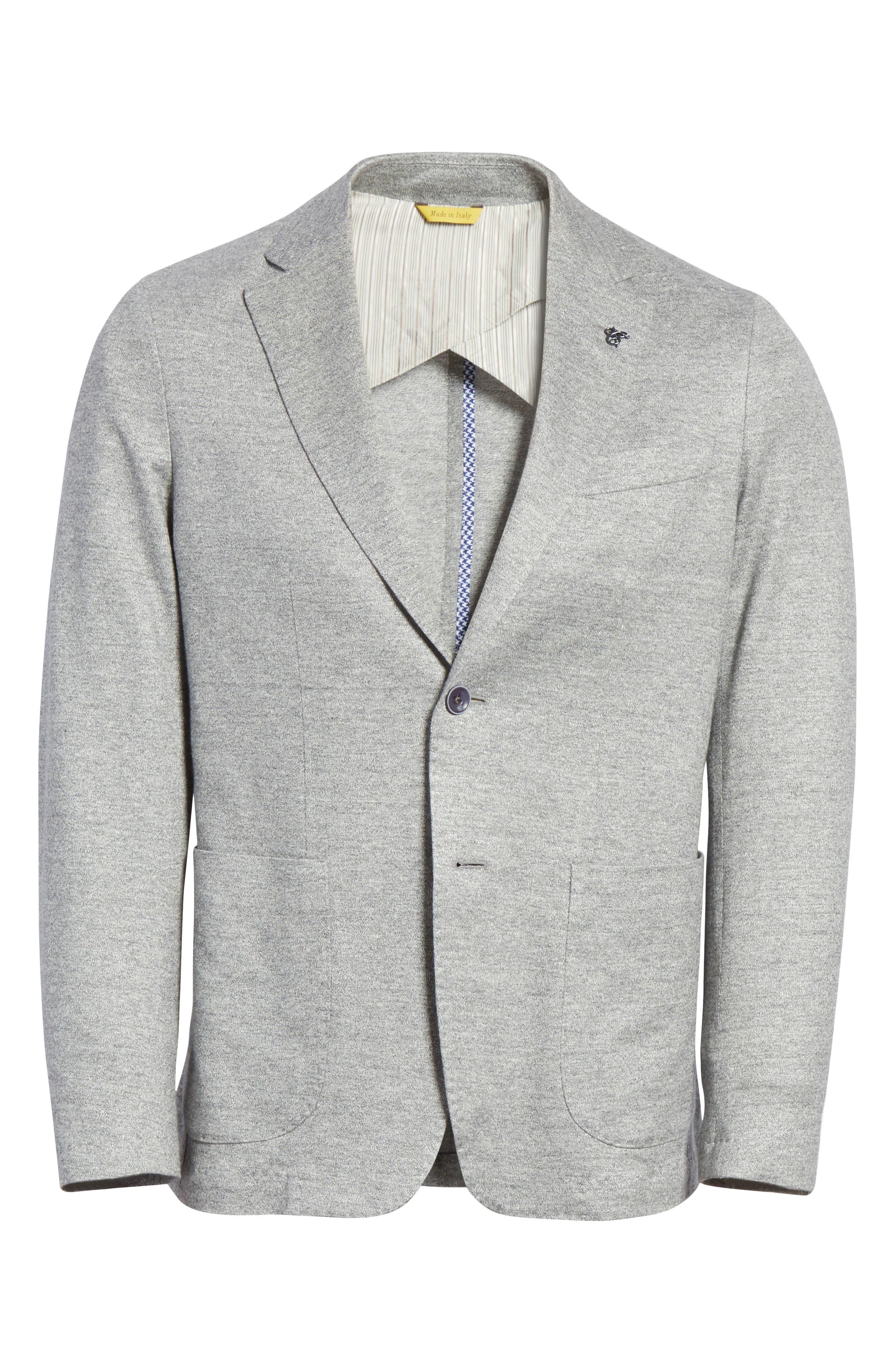Trim Fit Washed Jersey Jacket,                             Alternate thumbnail 5, color,                             050
