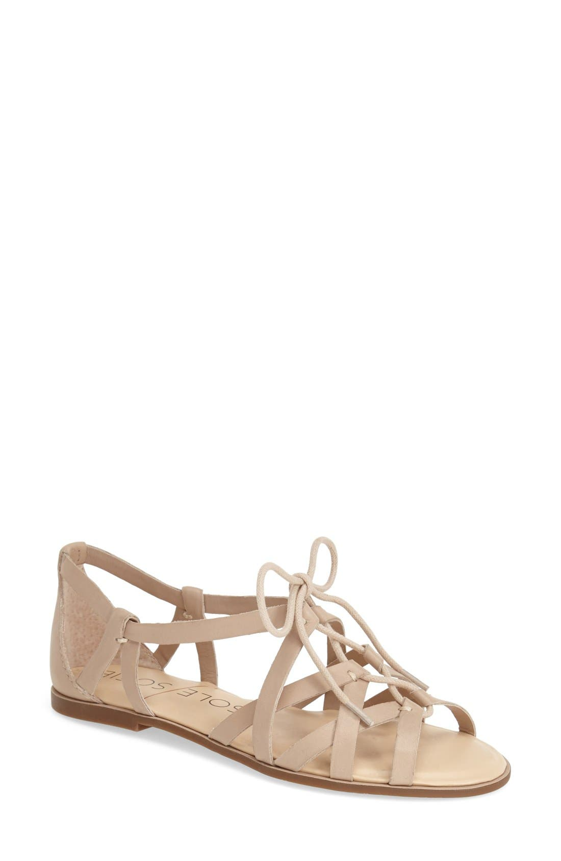 SOLE SOCIETY,                             'Gillian' Gladiator Sandal,                             Main thumbnail 1, color,                             200