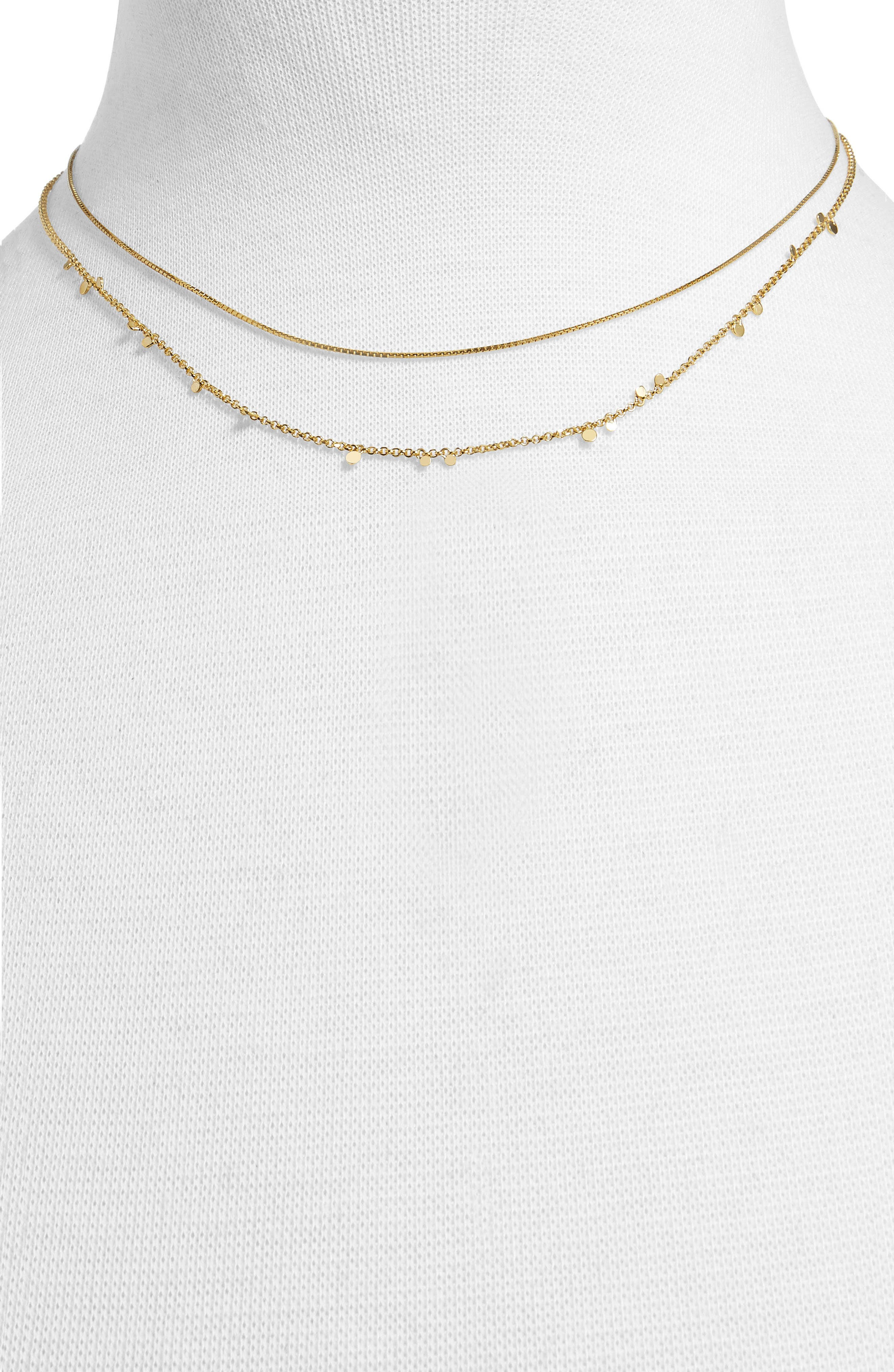 Confetti Everyday Two Strand Necklace,                             Alternate thumbnail 2, color,                             710
