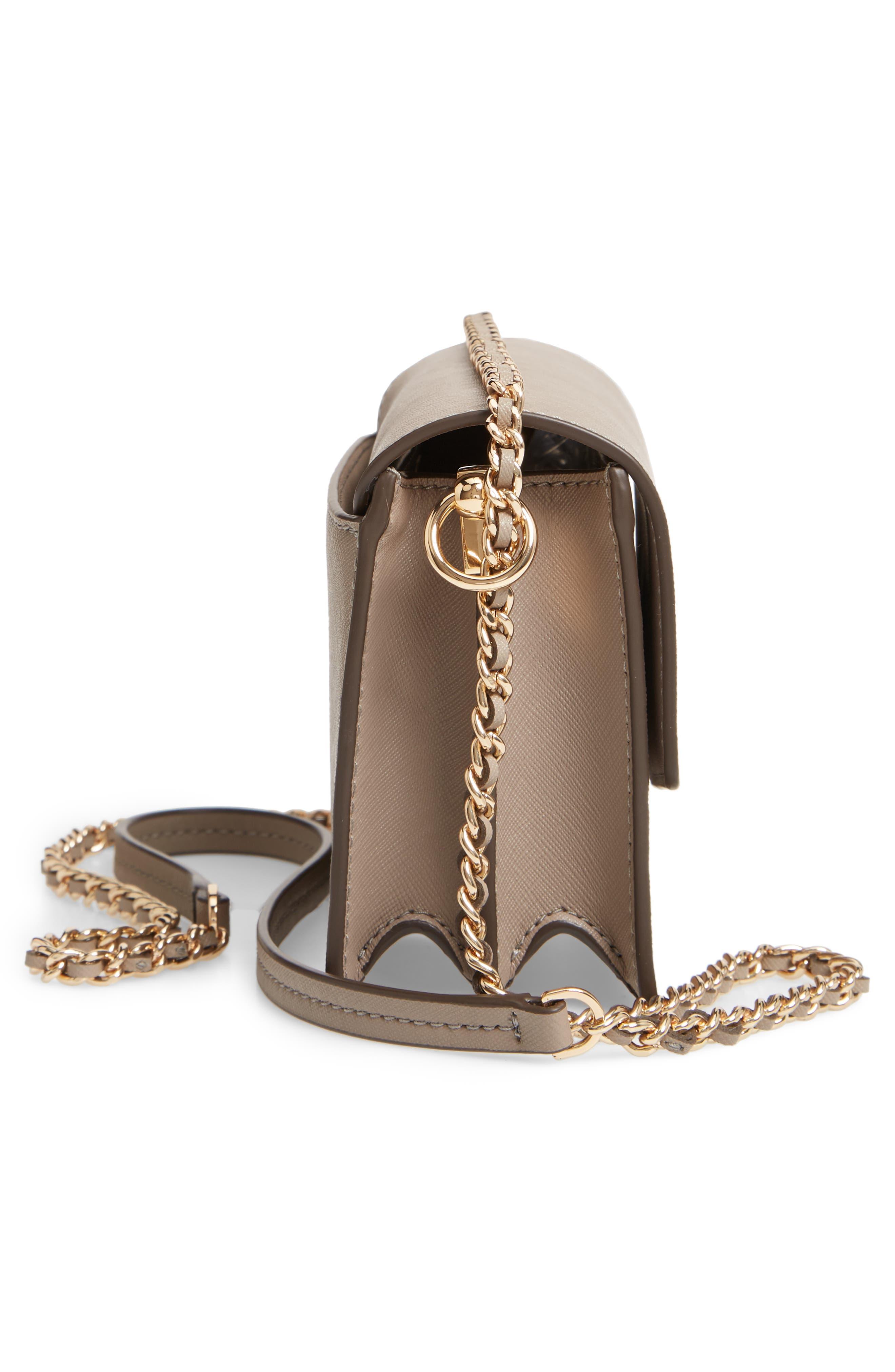Mini Robinson Convertible Leather Shoulder Bag,                             Alternate thumbnail 5, color,                             GRAY HERON