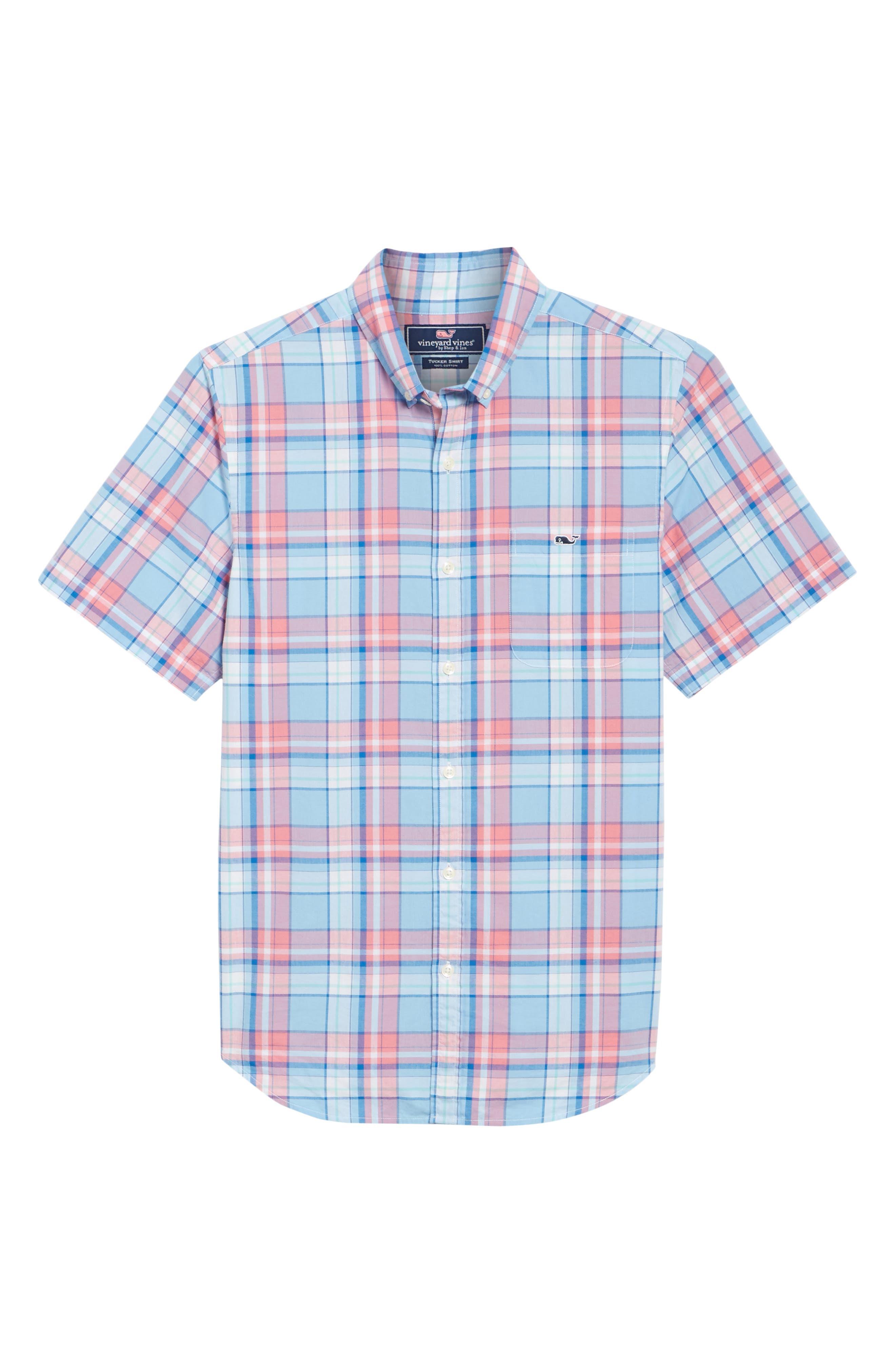 Bluff House Plaid Sport Shirt,                             Alternate thumbnail 6, color,                             484