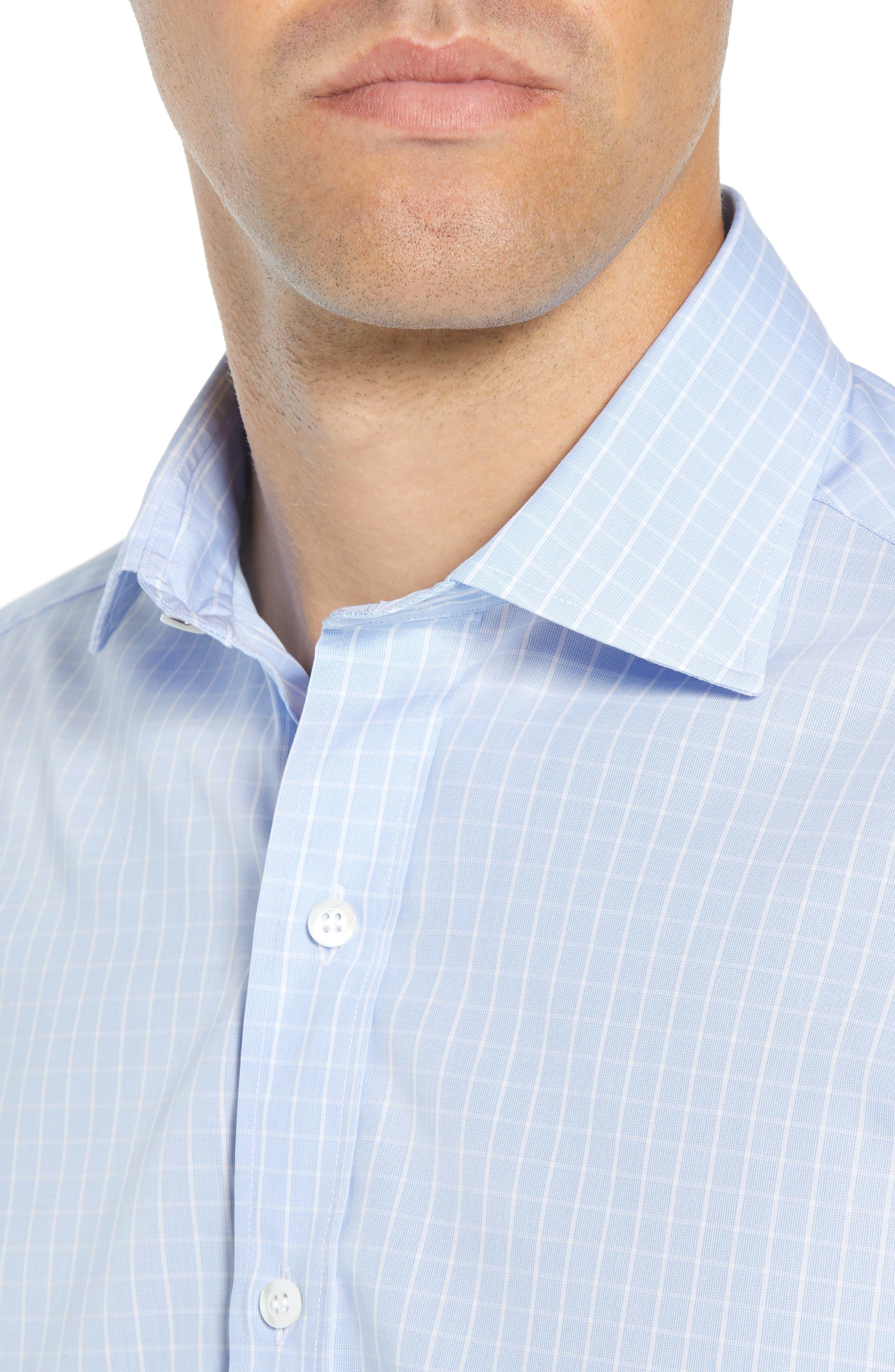 McBride Trim Fit Check Dress Shirt,                             Alternate thumbnail 2, color,                             BLUE