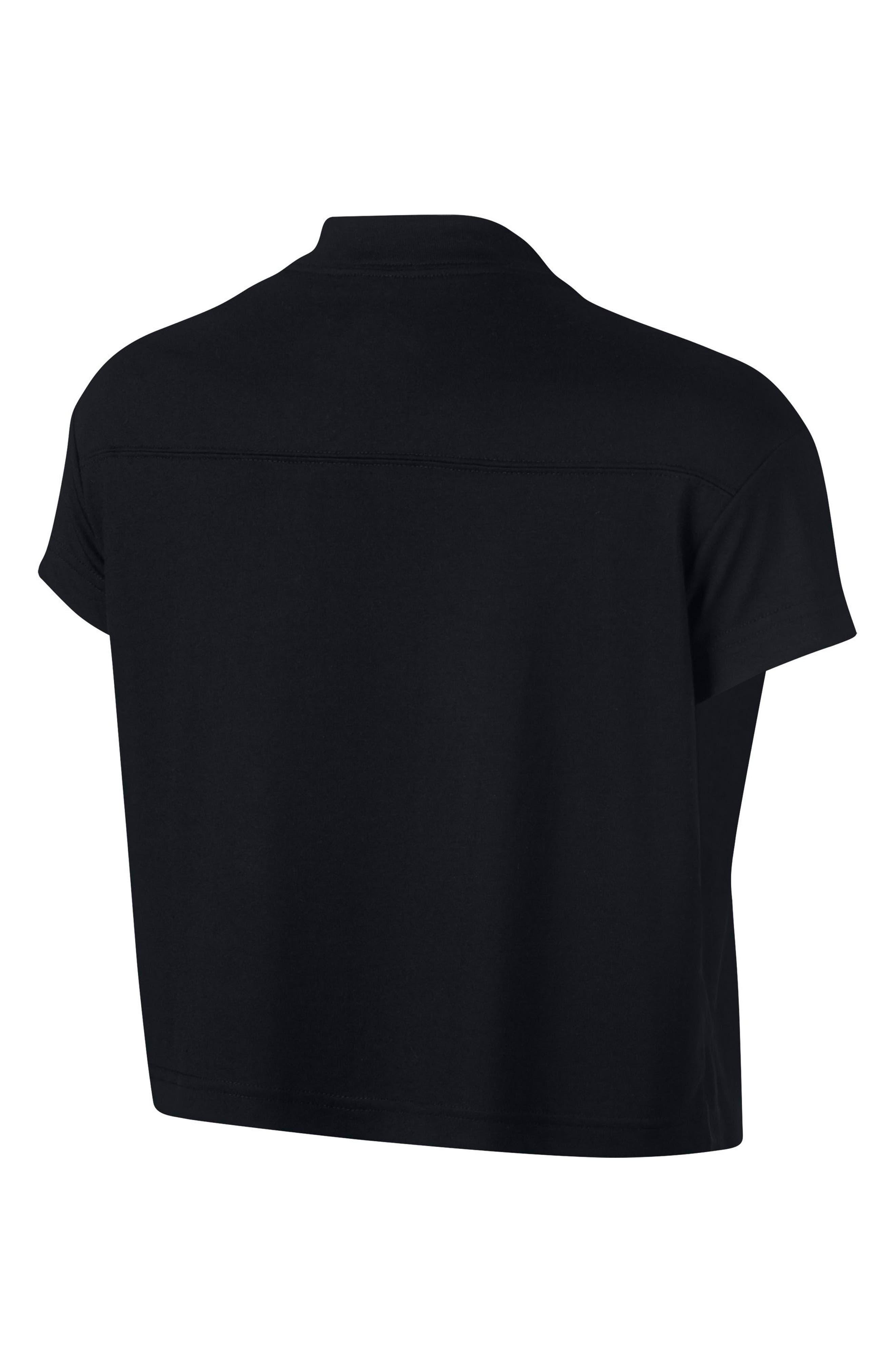 Sportswear Short Sleeve Crop Tee,                             Alternate thumbnail 2, color,                             010