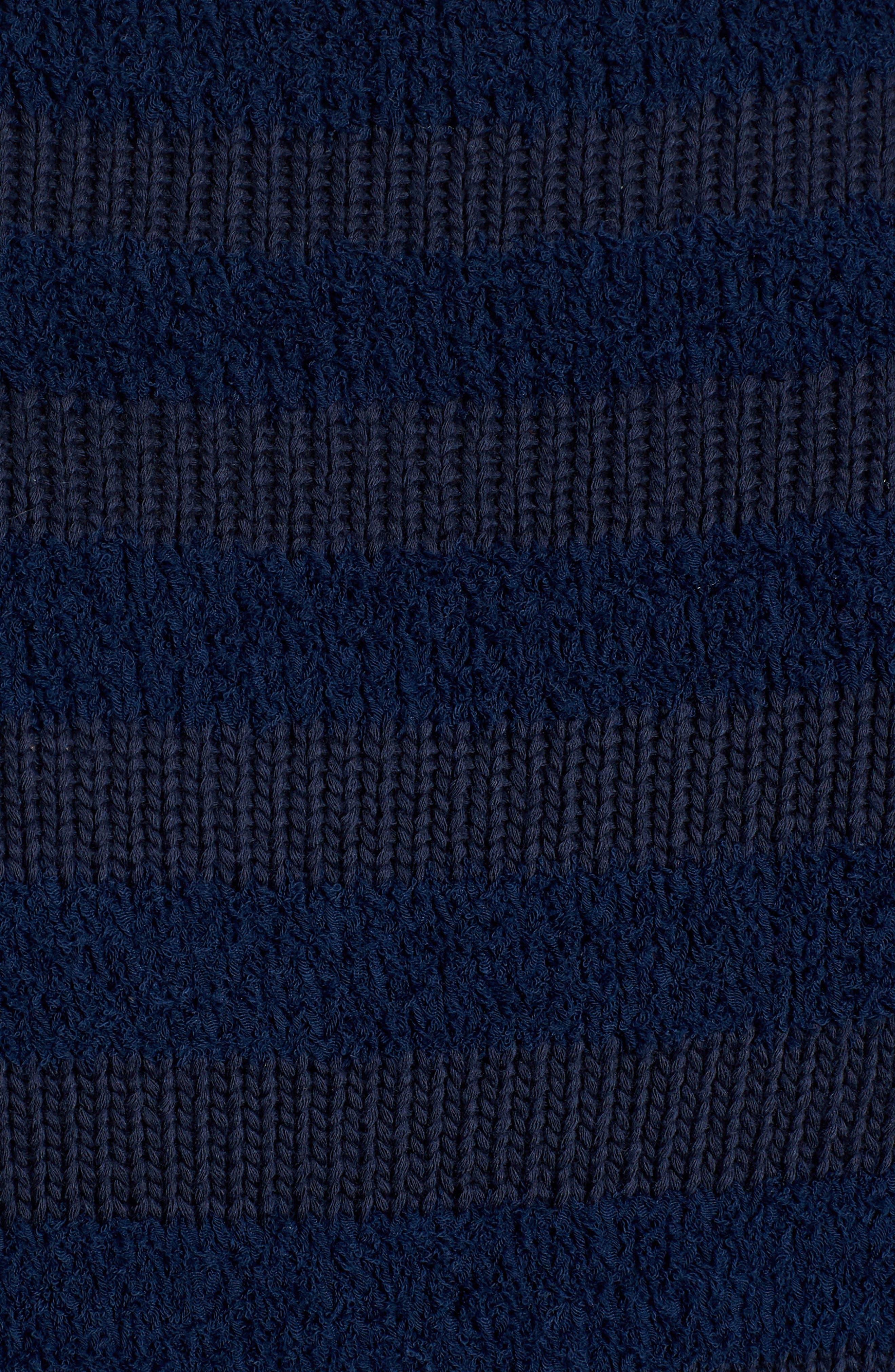 Zip Sleeve Stripe Sweater,                             Alternate thumbnail 6, color,                             404