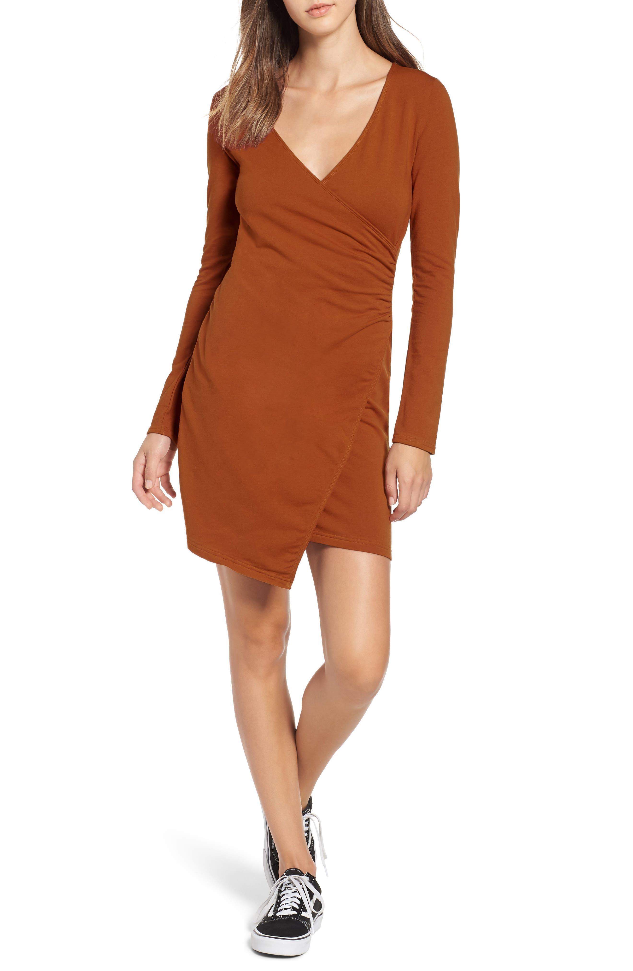 Obey Kinzie Faux Wrap Dress