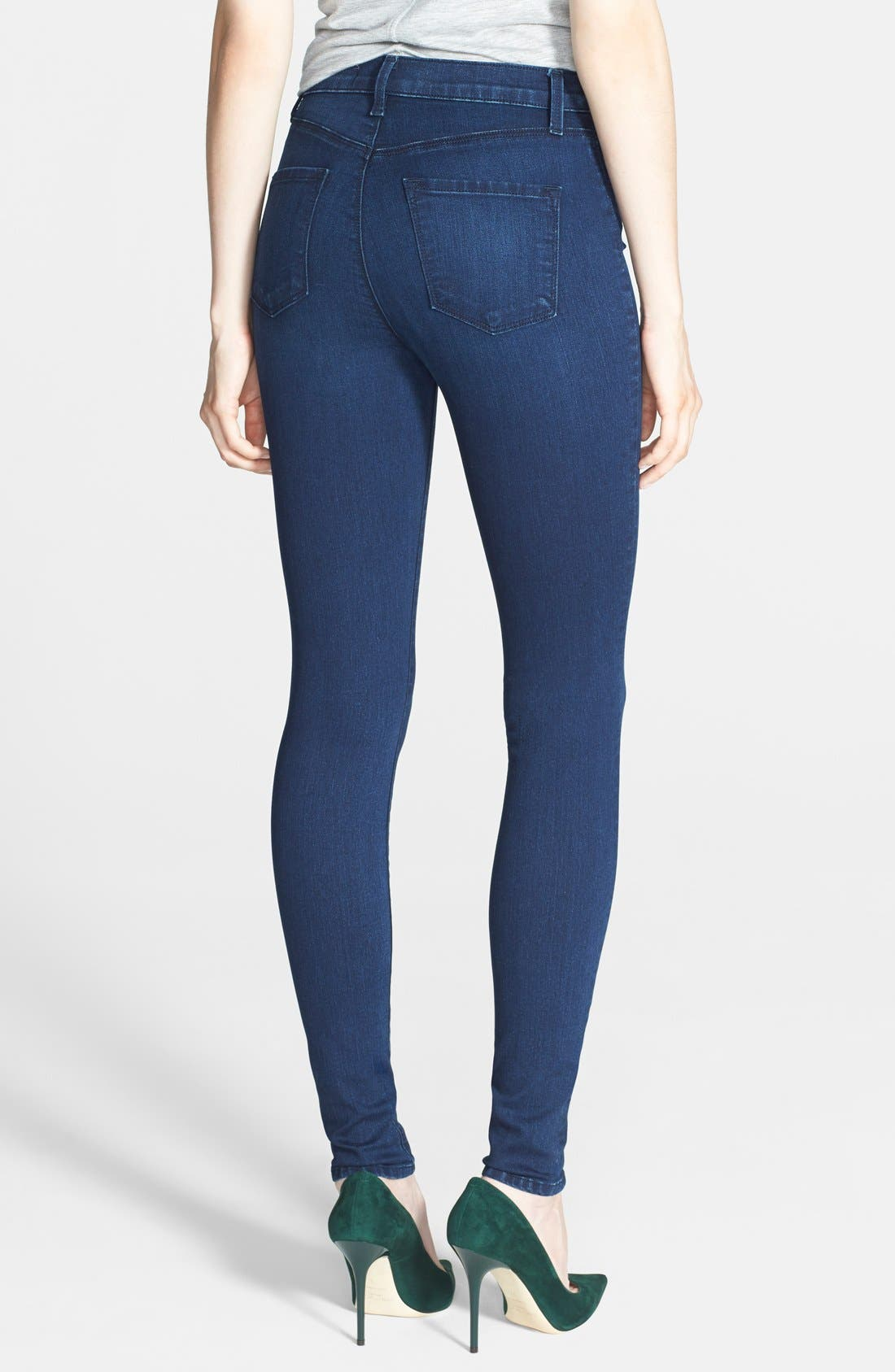 J BRAND,                             'Maria' High Rise Skinny Jeans,                             Alternate thumbnail 3, color,                             400