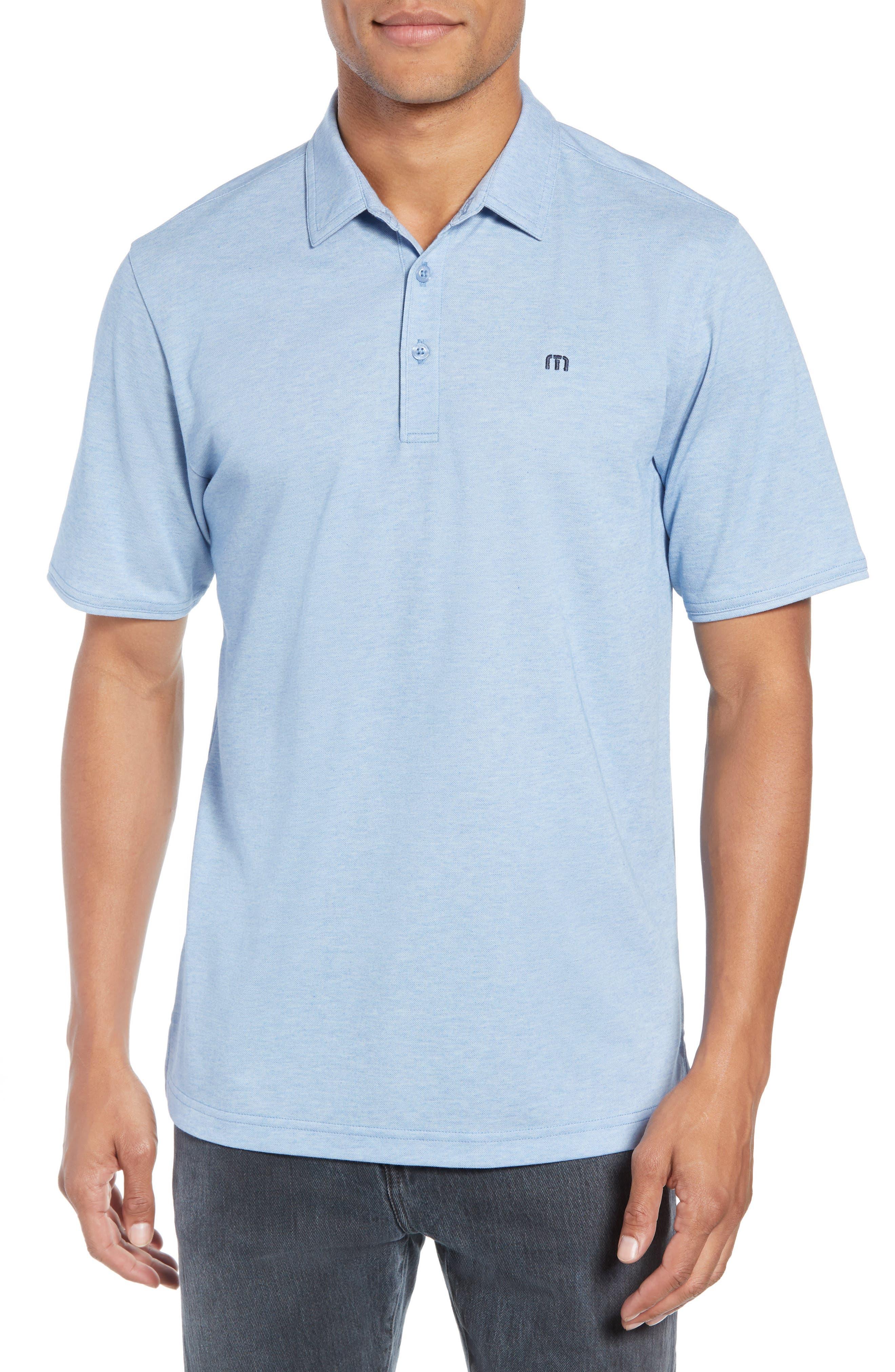 Travis Mathew Classy Jersey Polo, Blue