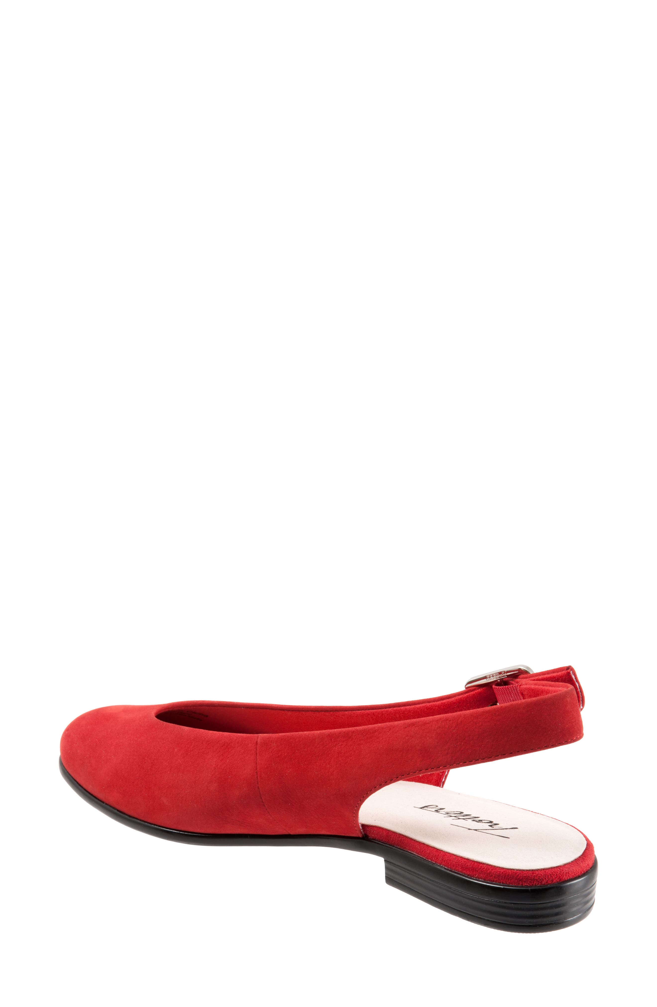Alice Flat,                             Alternate thumbnail 7, color,                             RED SUEDE