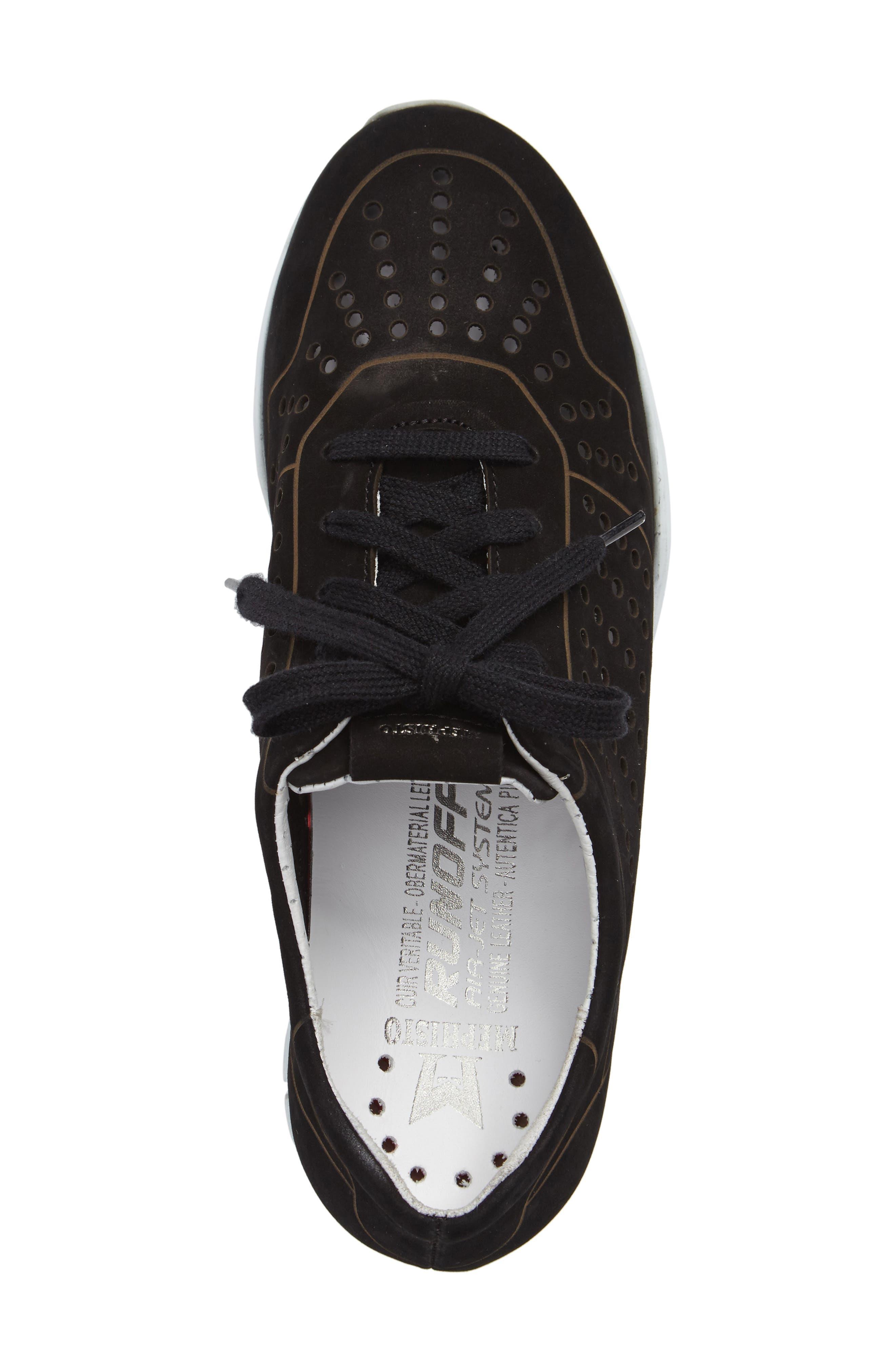 Yliane Sneaker,                             Alternate thumbnail 5, color,                             BLACK NUBUCK LEATHER