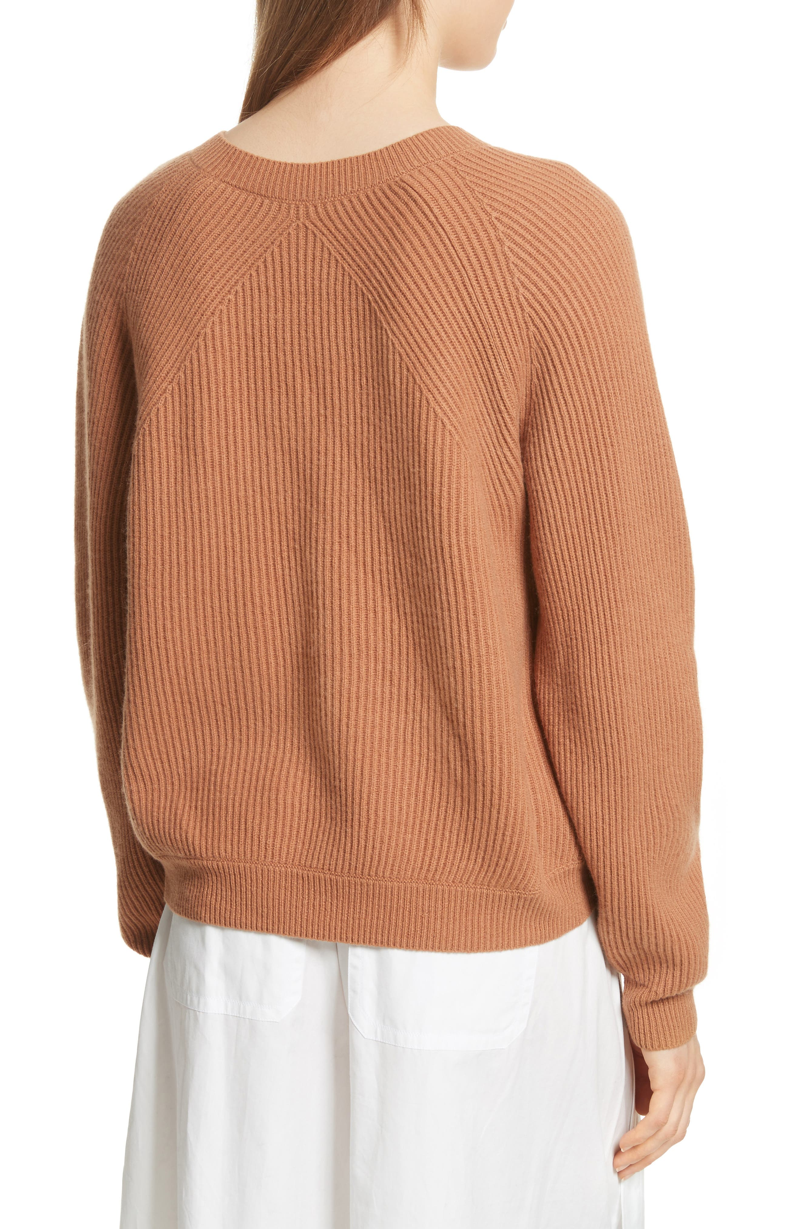 Diagonal Rib Wool & Cashmere Sweater,                             Alternate thumbnail 6, color,