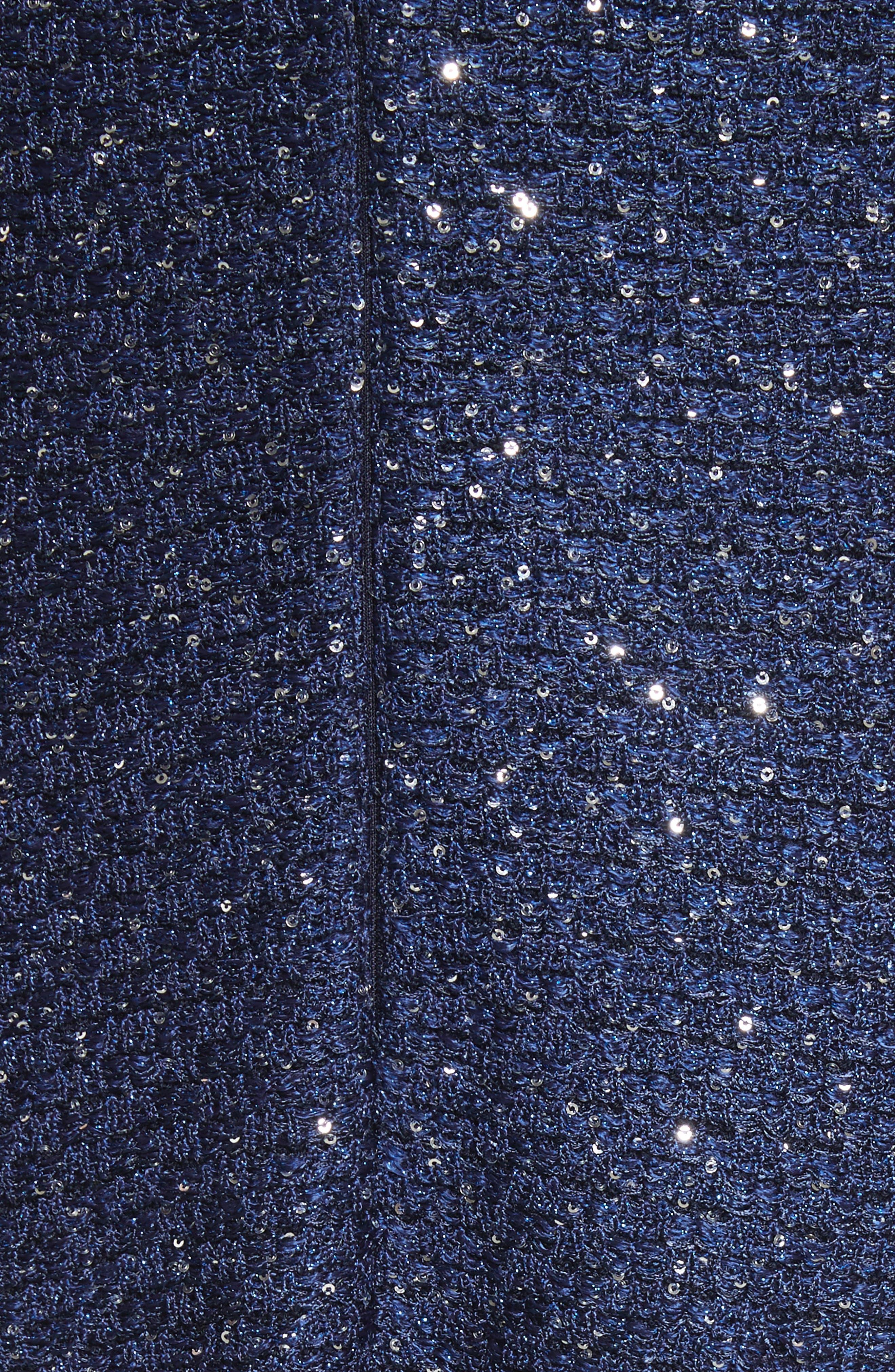 Sparkle Sequin Knit Fit & Flare Dress,                             Alternate thumbnail 5, color,                             410