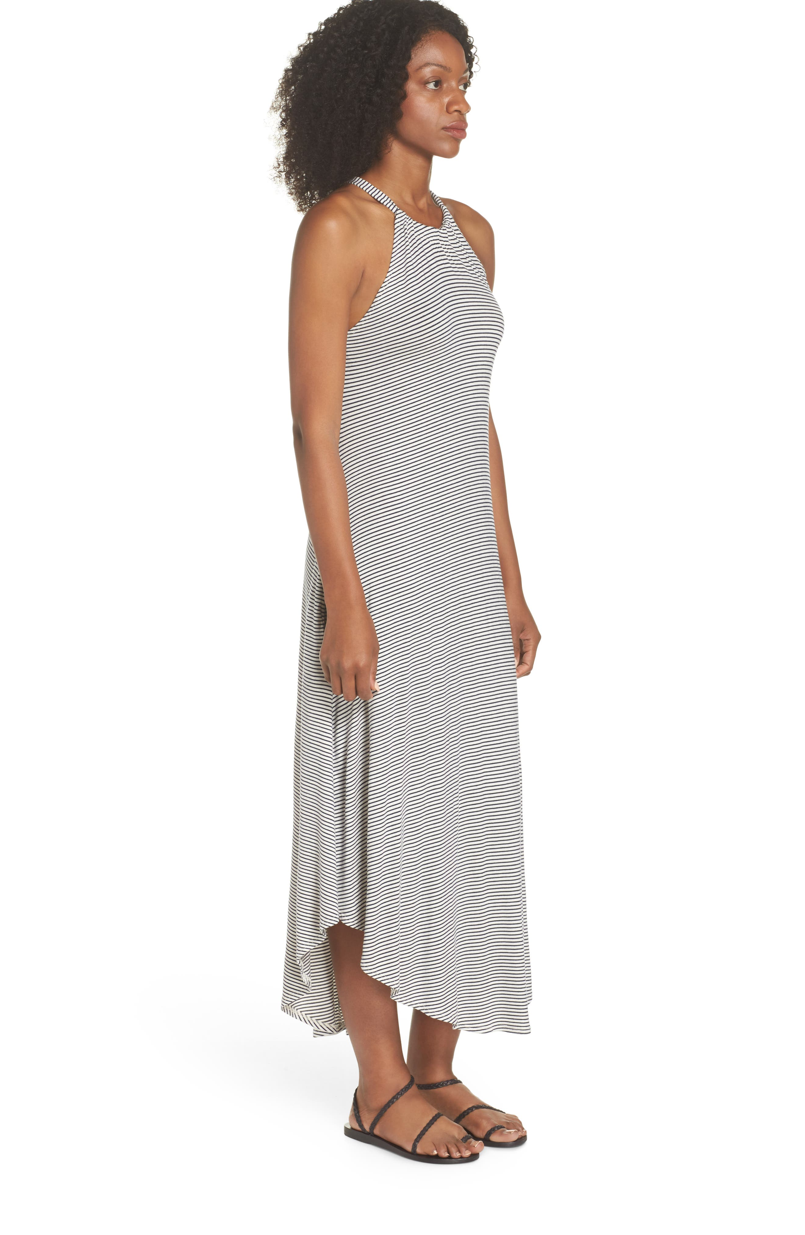 High Neck Cover-Up Dress,                             Alternate thumbnail 3, color,                             438