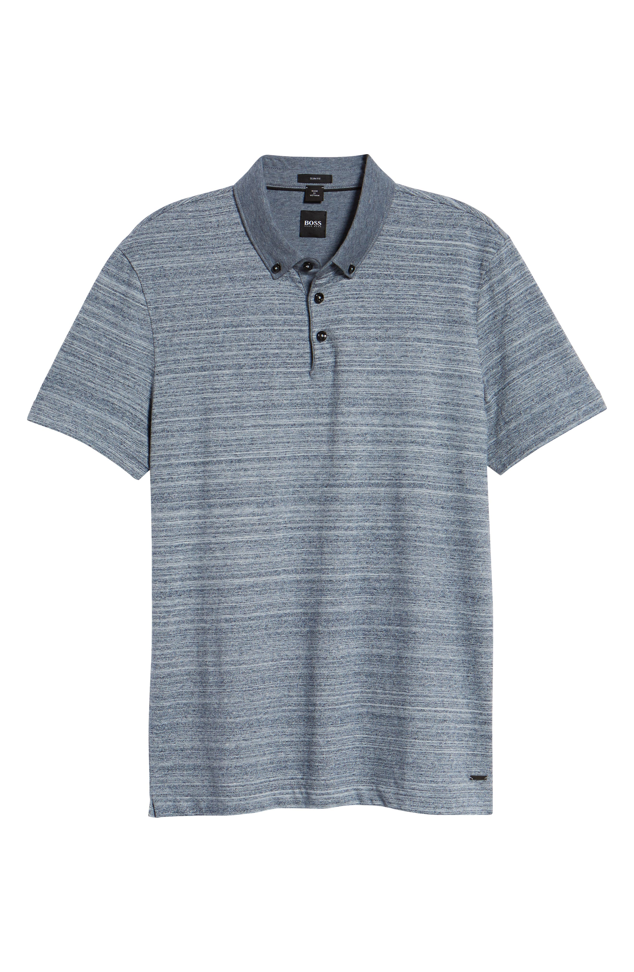 Pelham Space Dyed Slim Fit Polo,                             Alternate thumbnail 6, color,                             480