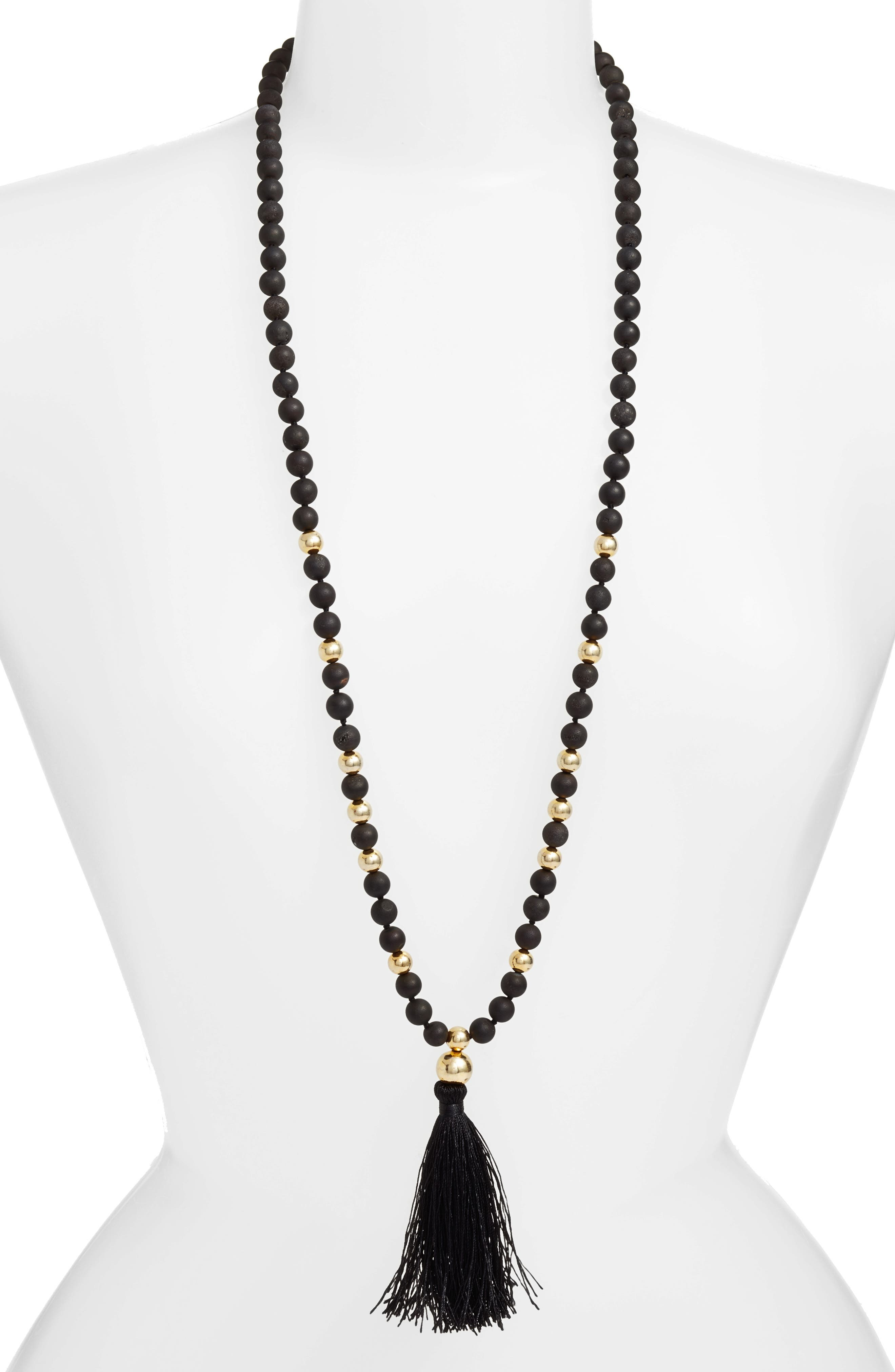 Hannah Drusy Tassel Necklace,                         Main,                         color, 011