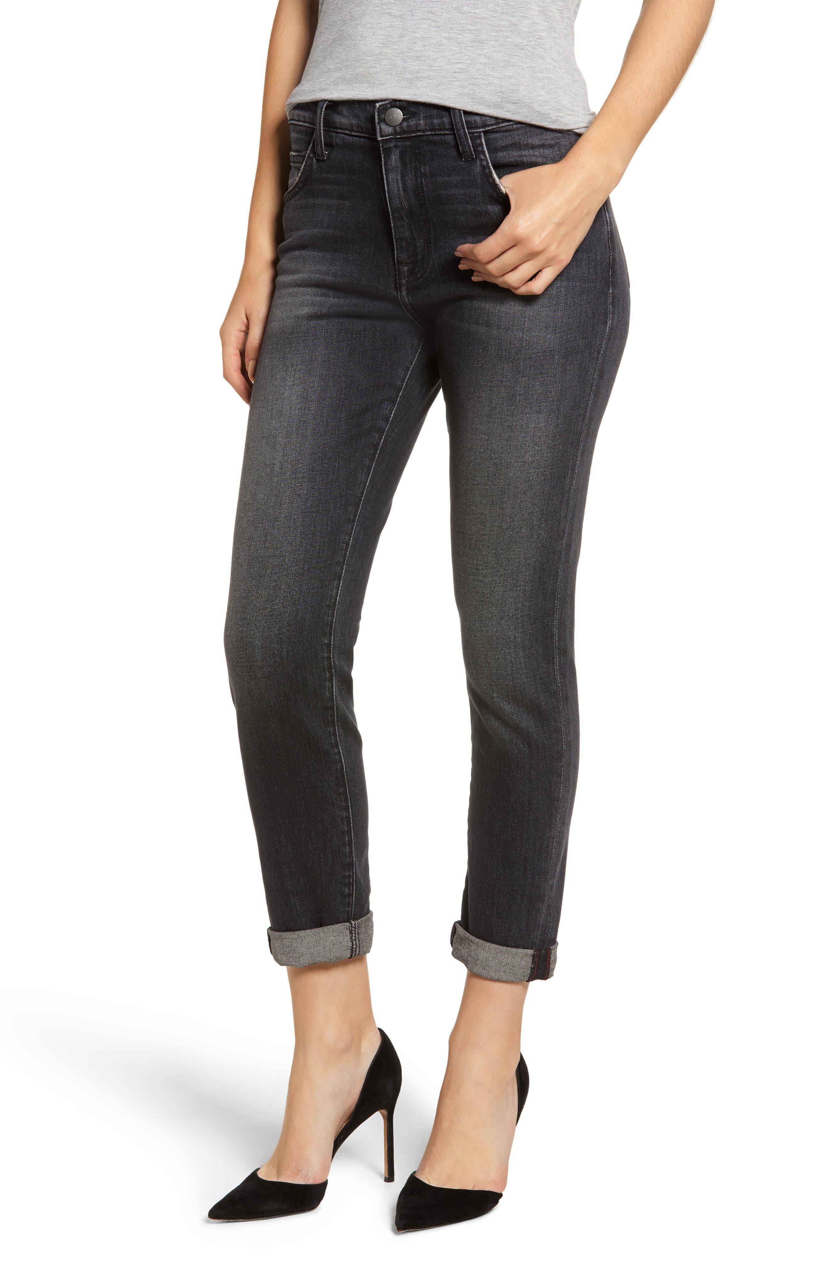 The Fling High Waist Boyfriend Jeans,                         Main,                         color, 001