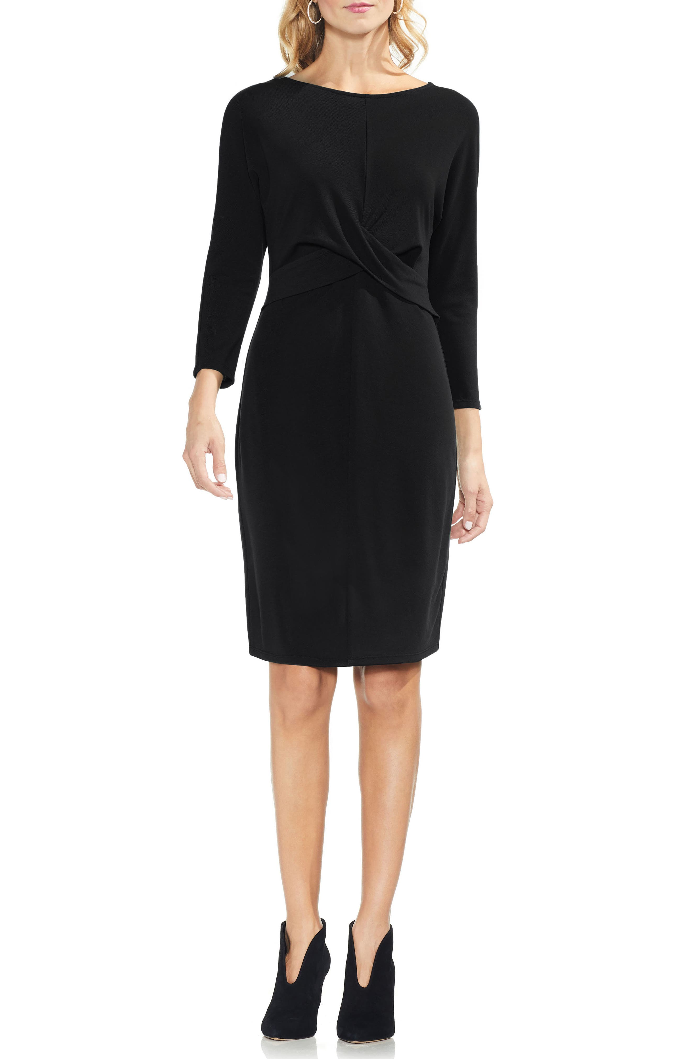 Vince Camuto Cross Front Body-Con Dress, Black