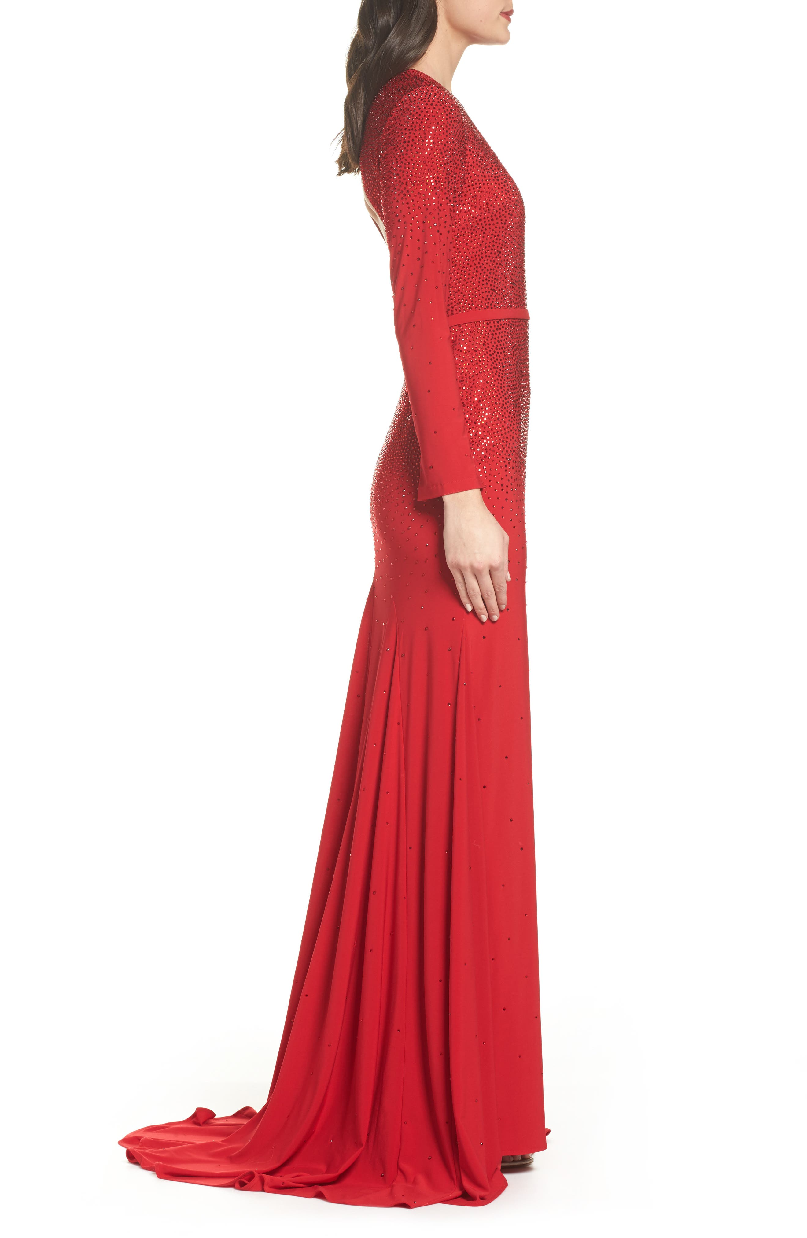 Keyhole Mermaid Gown,                             Alternate thumbnail 3, color,                             600