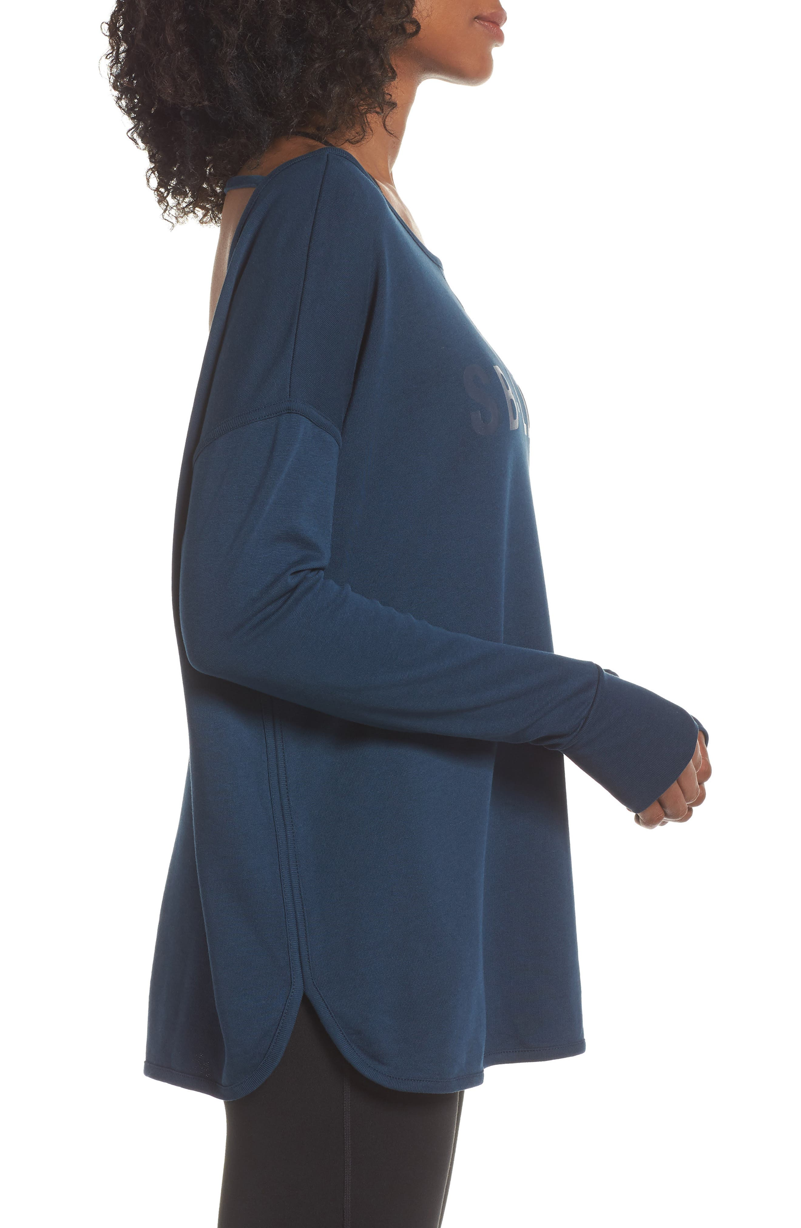 Simhasana Sweatshirt,                             Alternate thumbnail 3, color,                             BEETLE BLUE