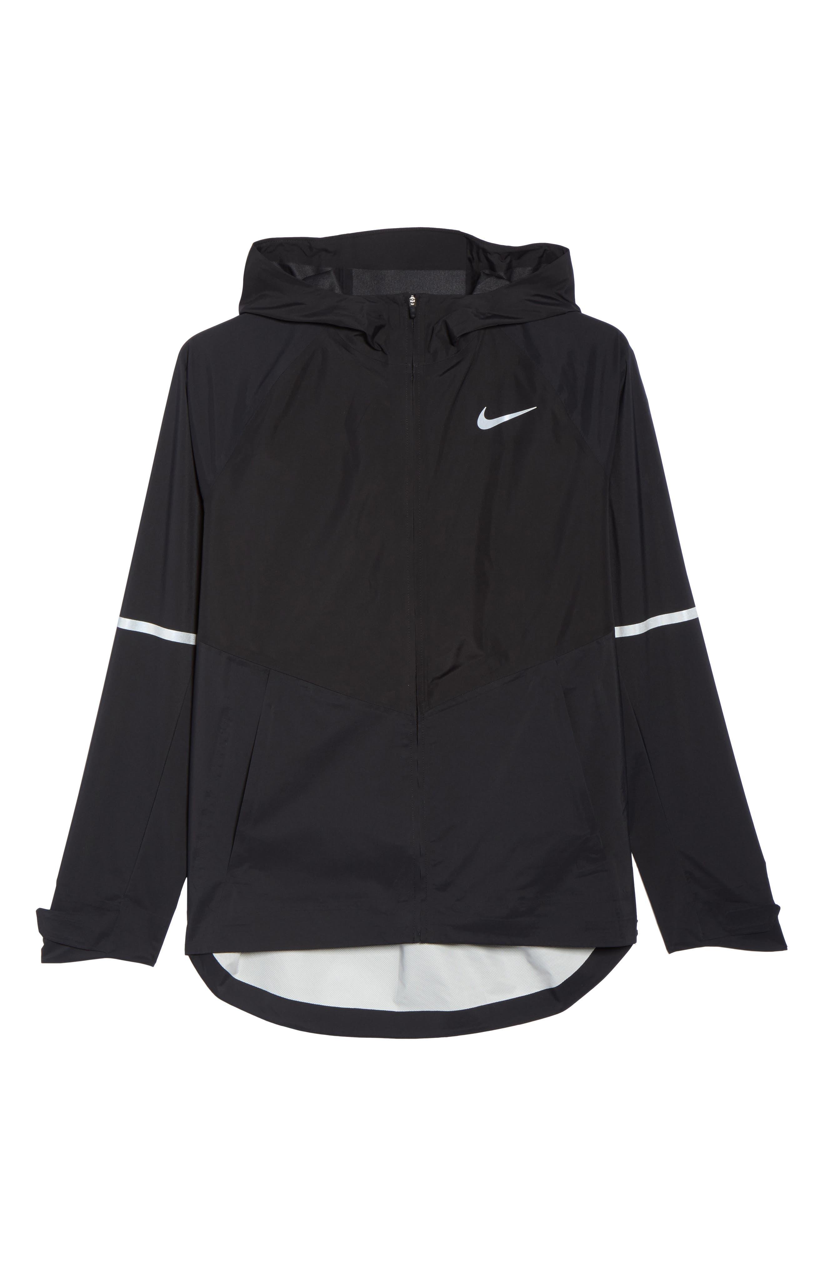 Zonal AeroShield Hooded Running Jacket,                             Alternate thumbnail 6, color,                             010