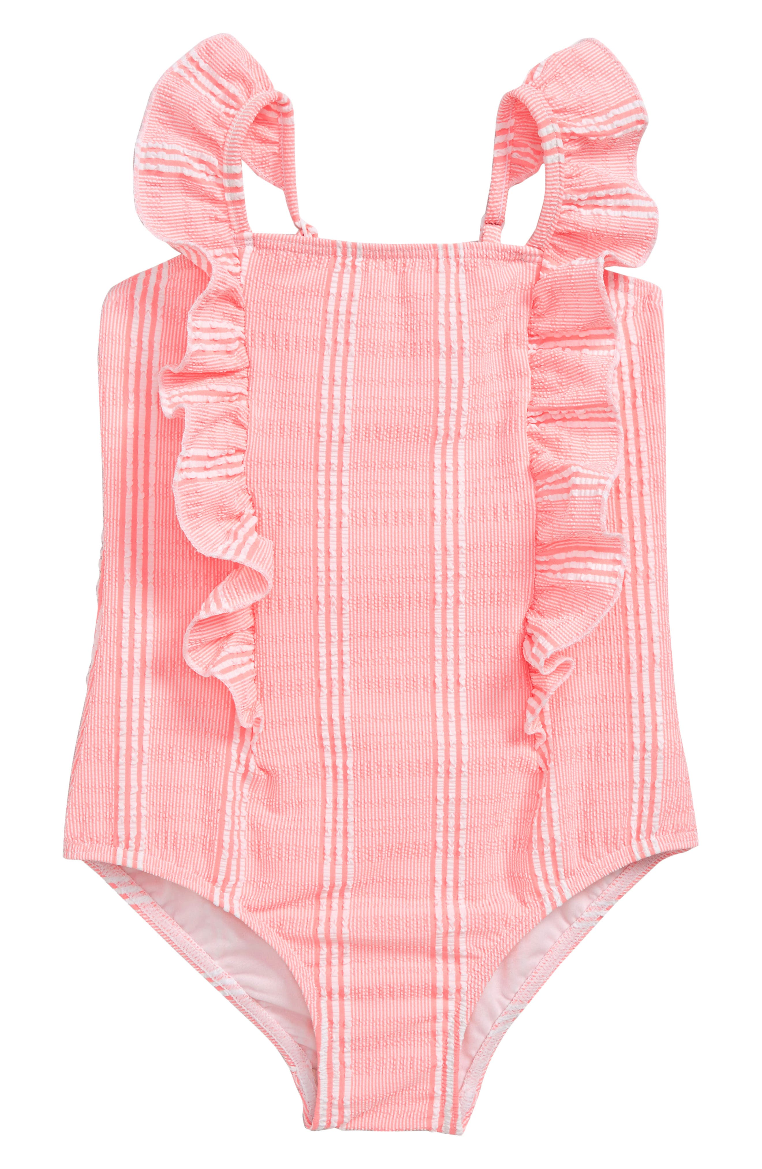 Bohemian Stripe One-Piece Swimsuit,                             Main thumbnail 1, color,                             BLOSSOM PINK