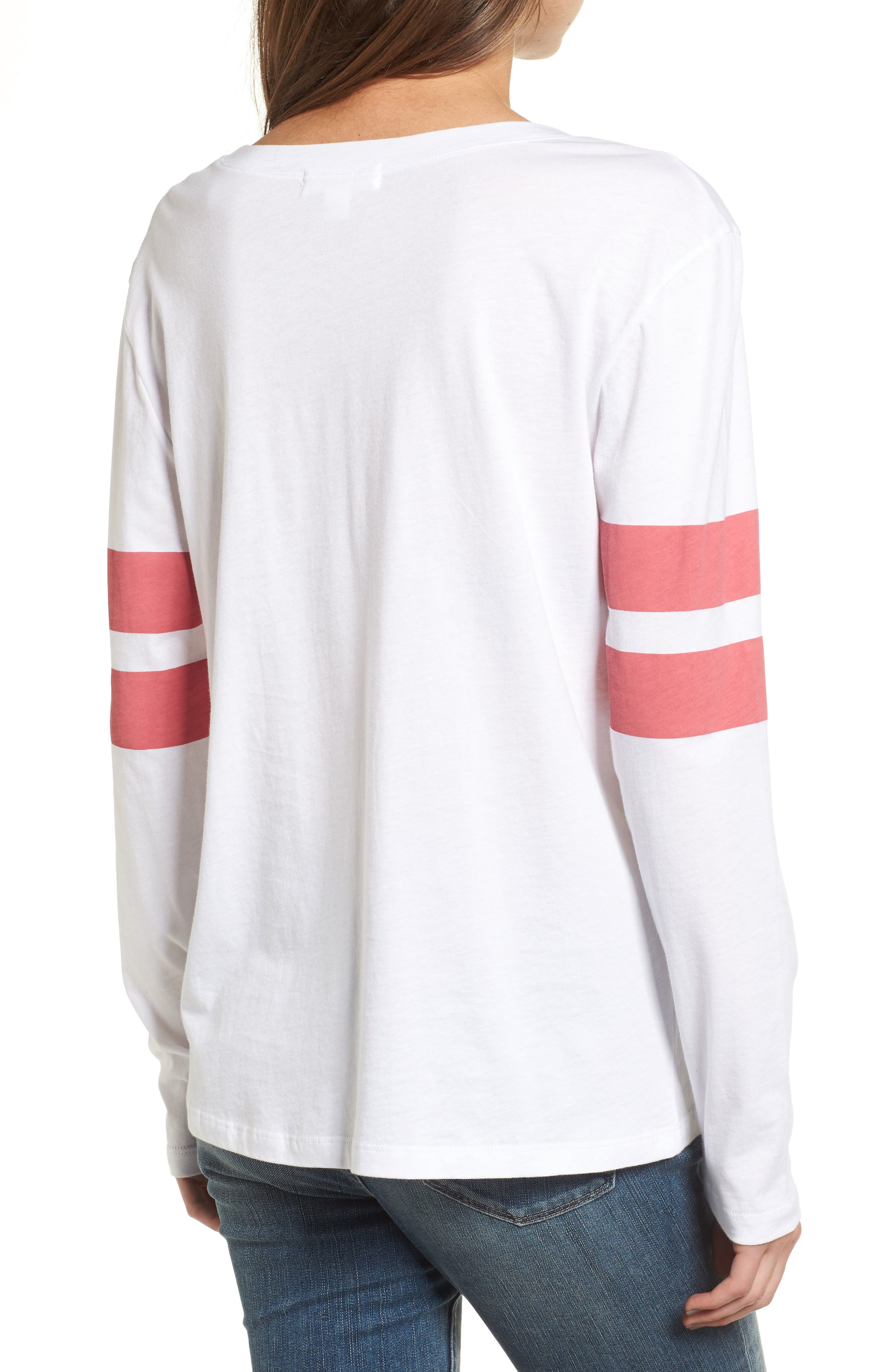 Varsity Stripe Cotton Tee,                             Alternate thumbnail 25, color,