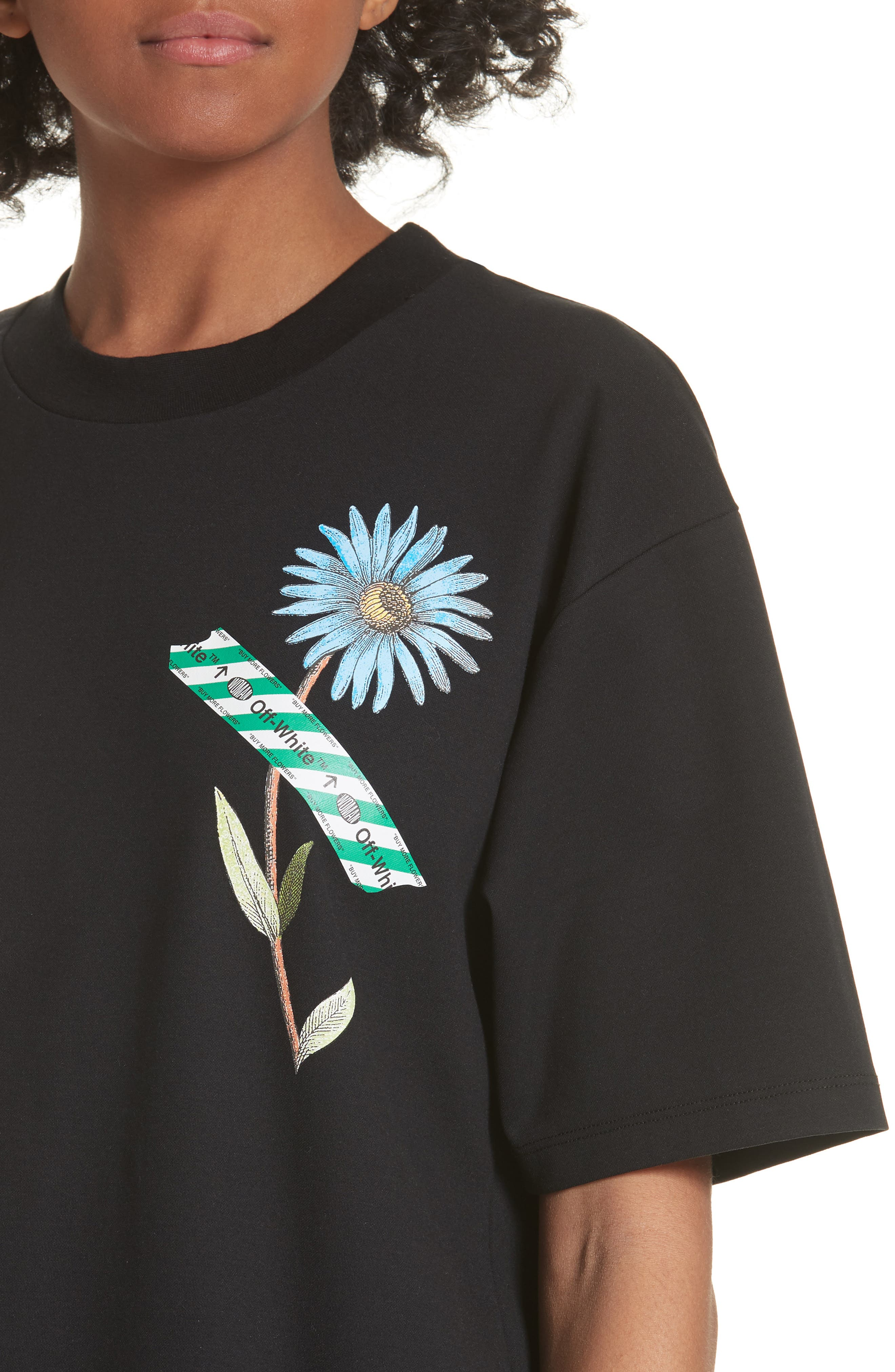 Flower Shop Tee,                             Alternate thumbnail 4, color,                             001