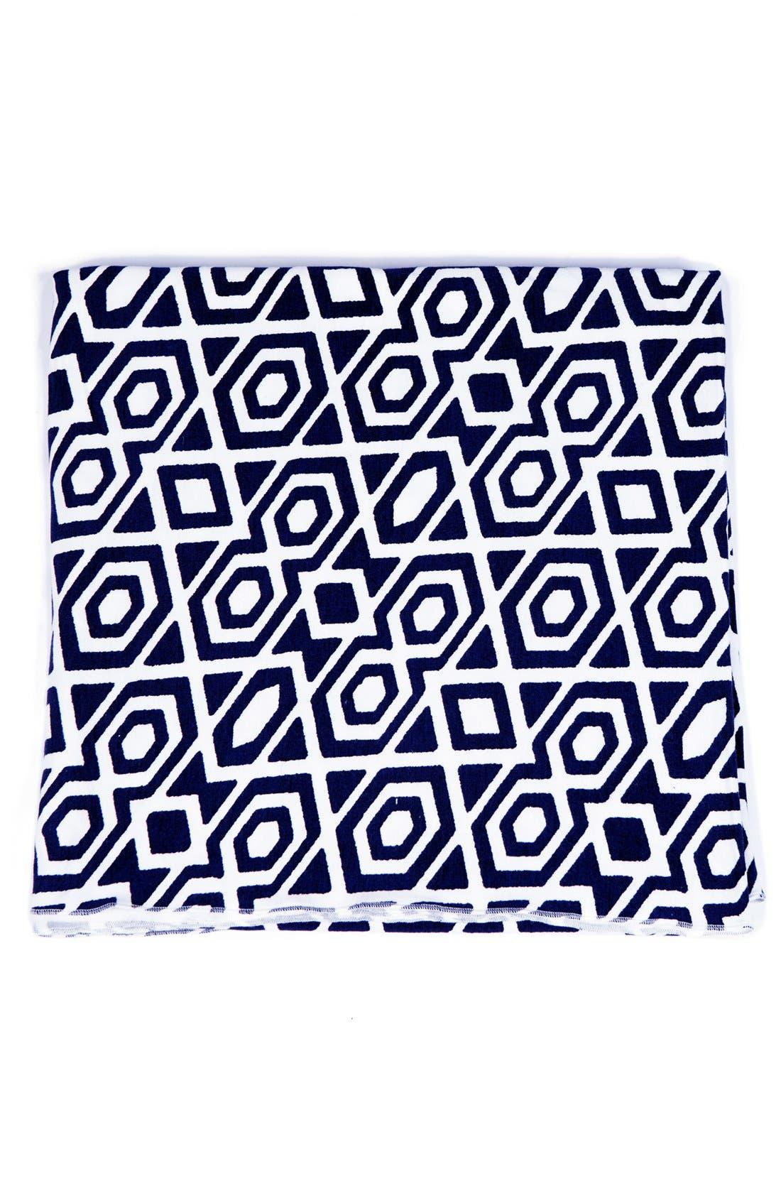 UPF 50 Print Blanket,                             Main thumbnail 1, color,                             NAVY DIAMOND