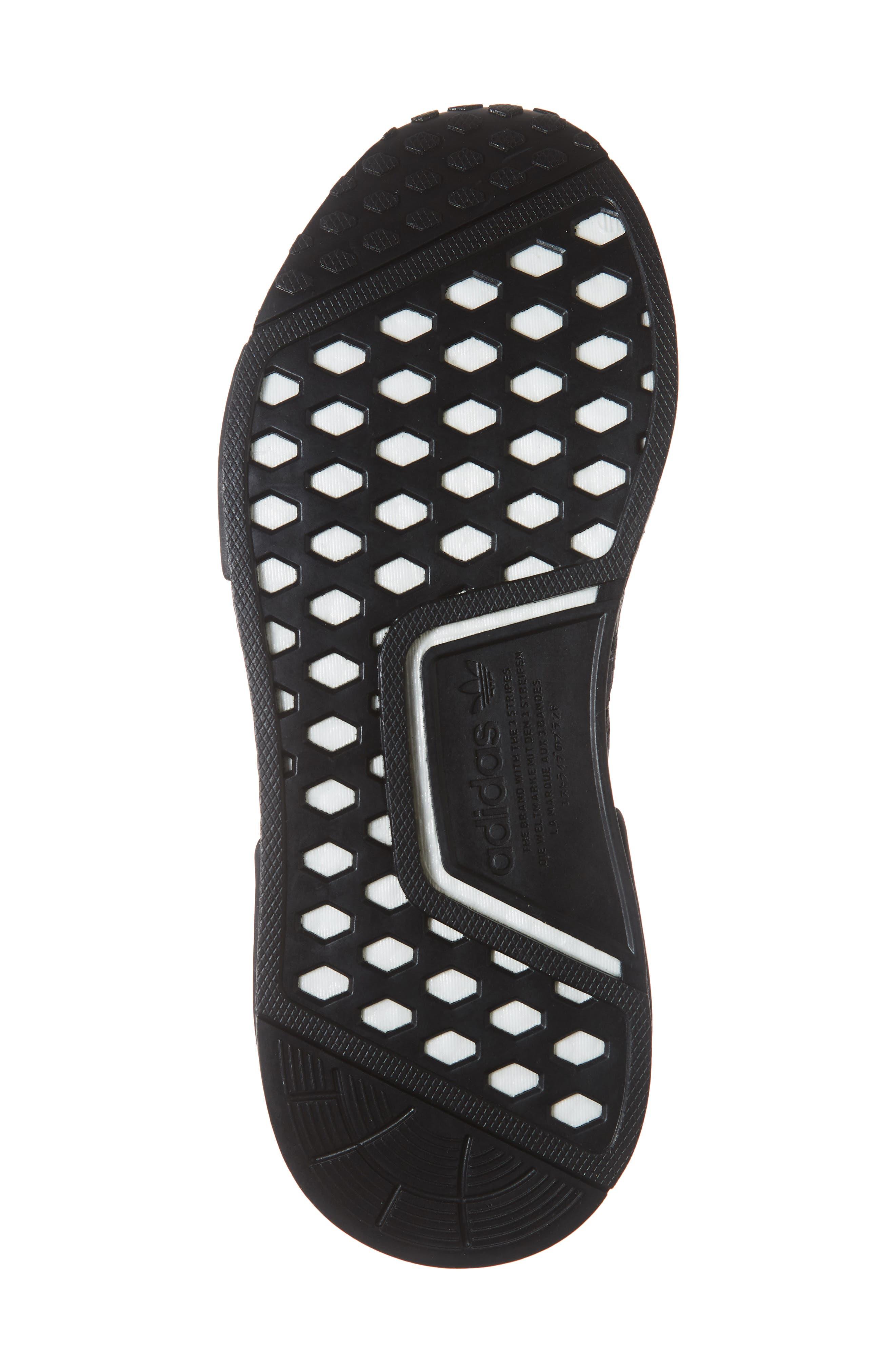 NMD R1 Athletic Shoe,                             Alternate thumbnail 6, color,                             BLACK/ BLACK/ CLEAR MINT