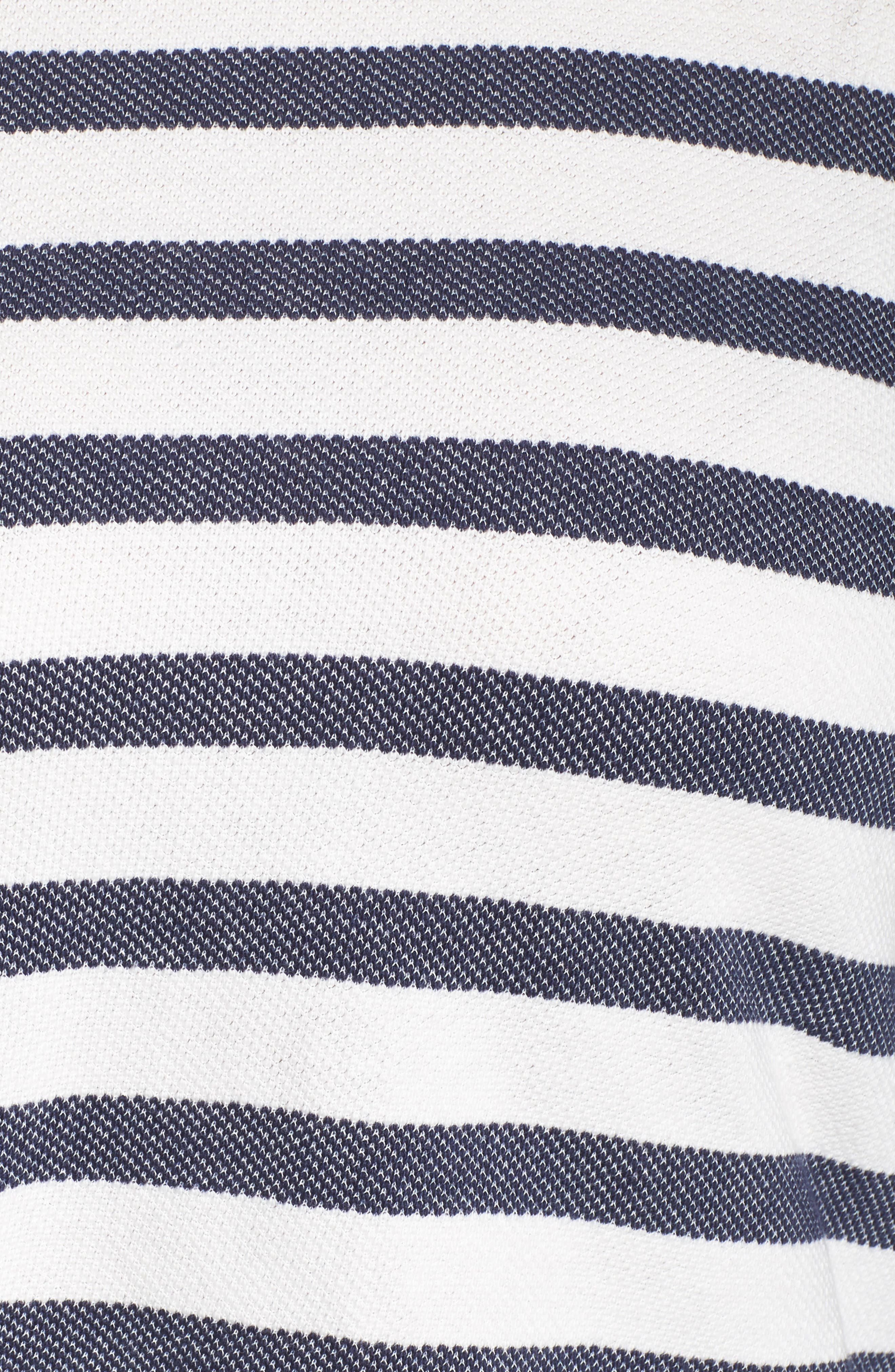 Stripe Bell Sleeve Top,                             Alternate thumbnail 5, color,                             410