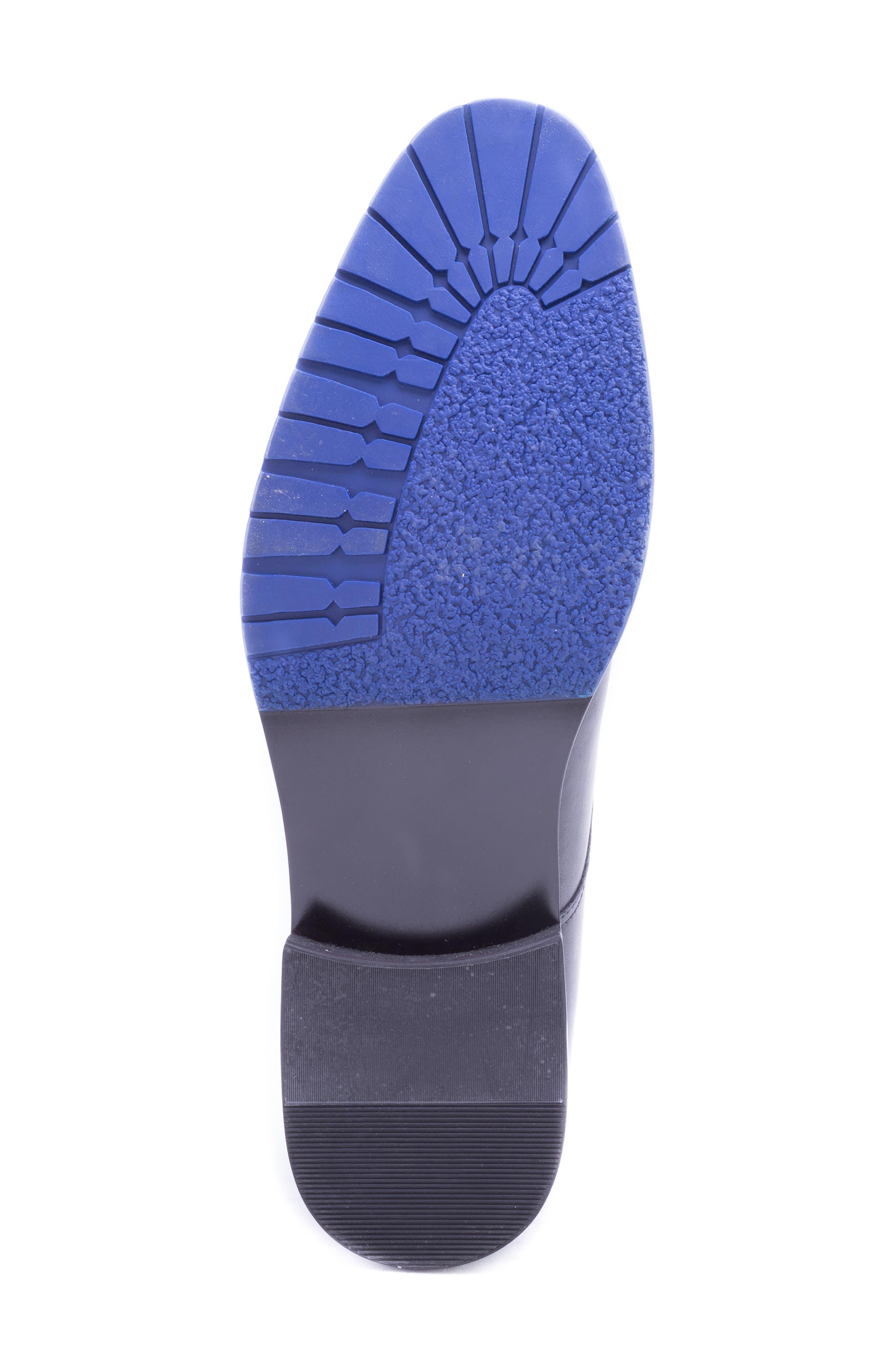 Catlett Double Monk Strap Shoe,                             Alternate thumbnail 6, color,                             BLACK LEATHER