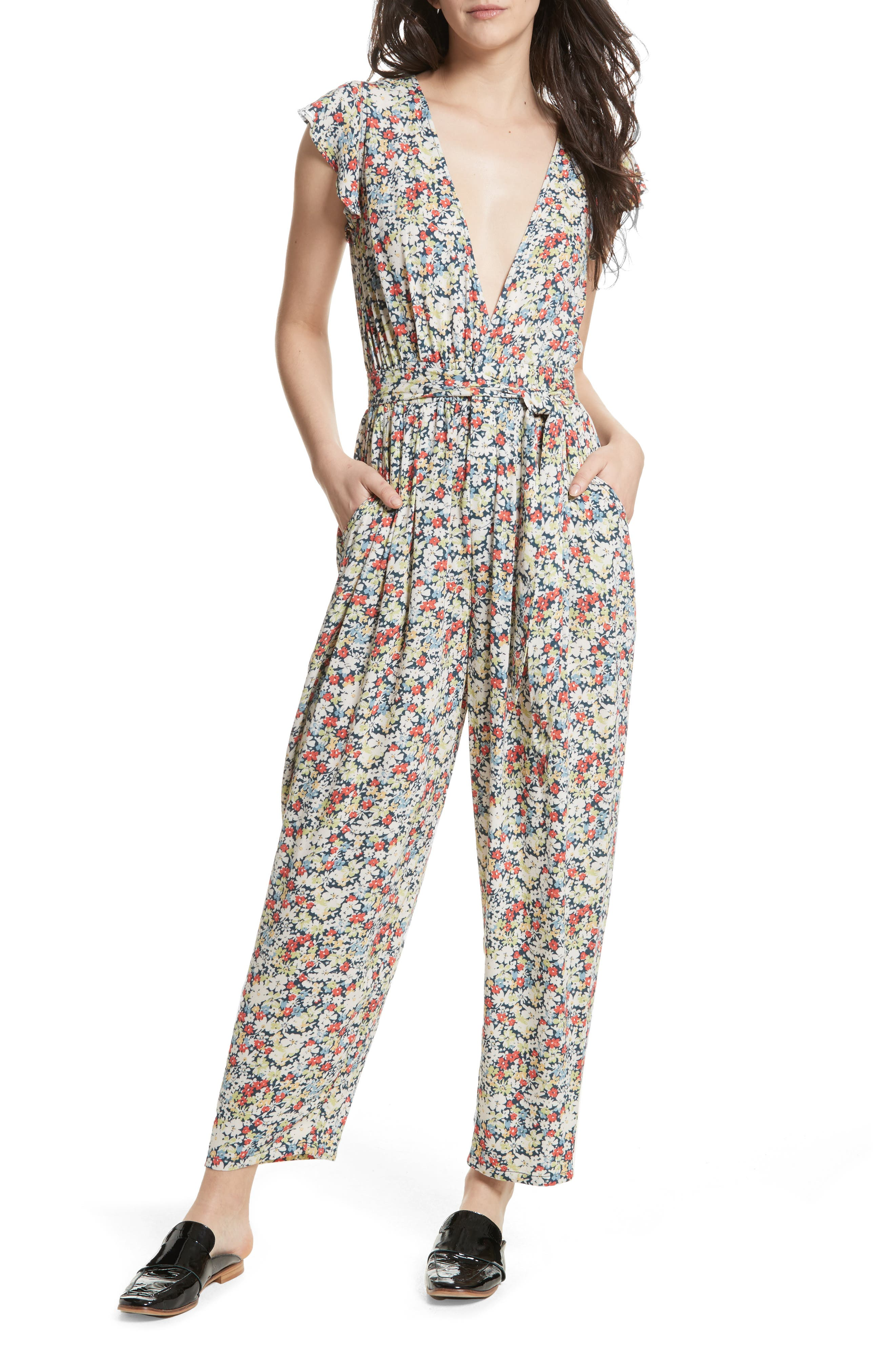 Ruffle Your Feathers Jumpsuit,                         Main,                         color, 410