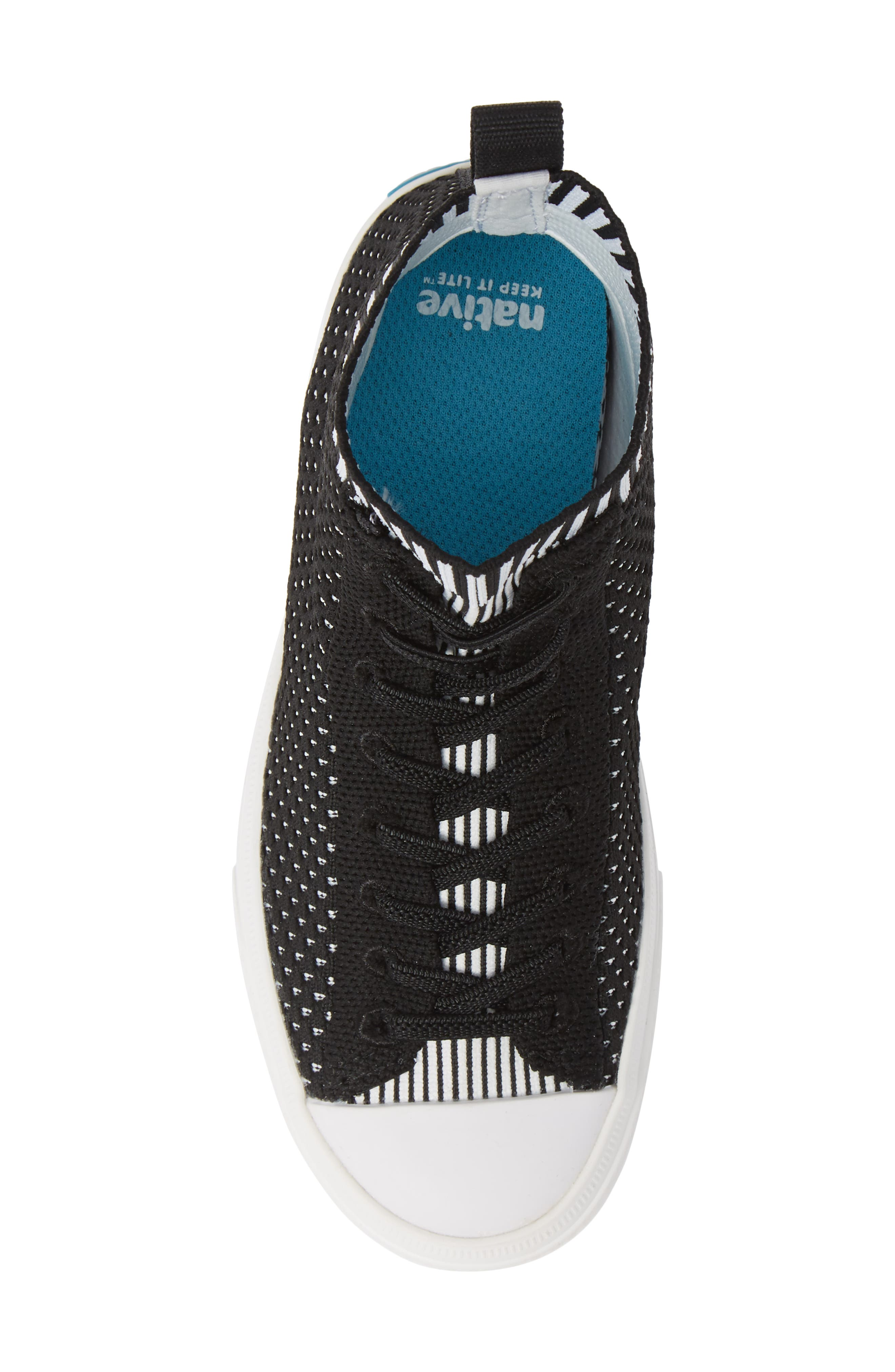 Jefferson 2.0 LiteKnit Vegan High Top Sneaker,                             Alternate thumbnail 5, color,                             JIFFY BLACK/ SHELL WHITE