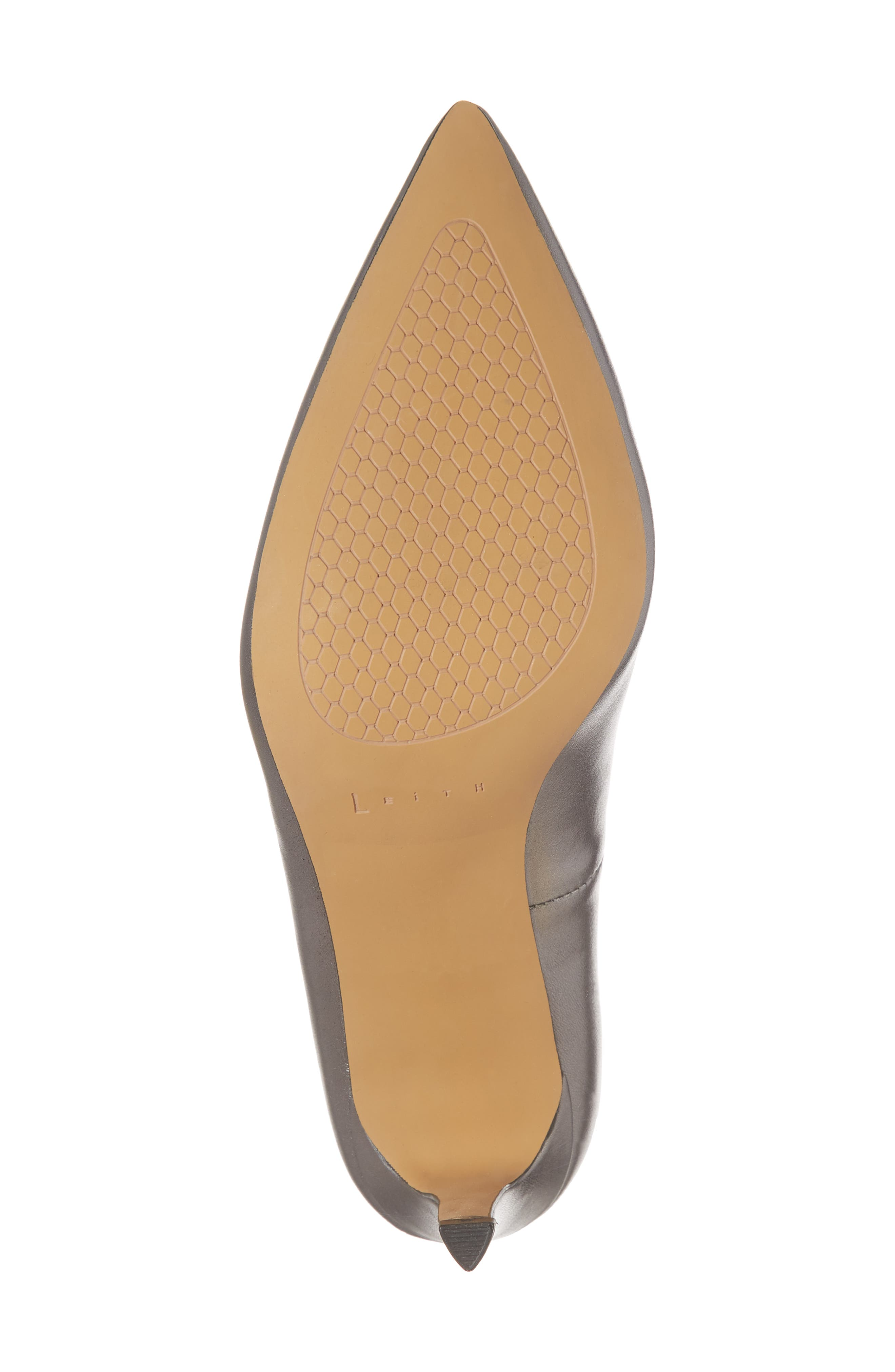 Palma Pointy Toe Pump,                             Alternate thumbnail 6, color,                             GUNMETAL LEATHER