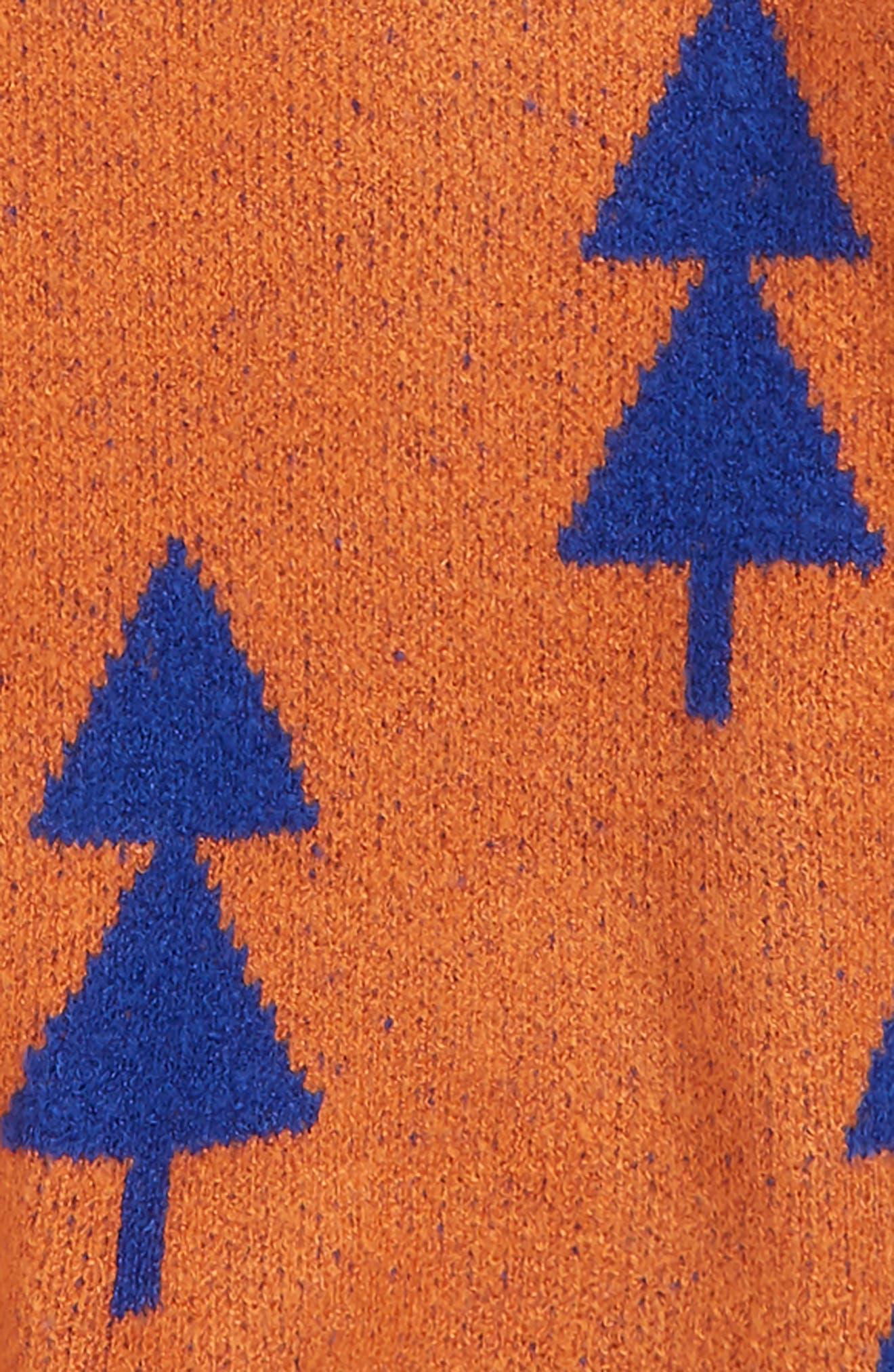 Intarsia Sweater,                             Alternate thumbnail 2, color,                             RUST LEAF- BLUE GEO TREES