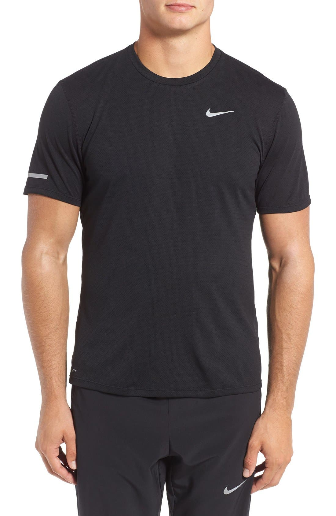 'Contour' Mesh Dri-FIT Running T-Shirt,                             Main thumbnail 1, color,