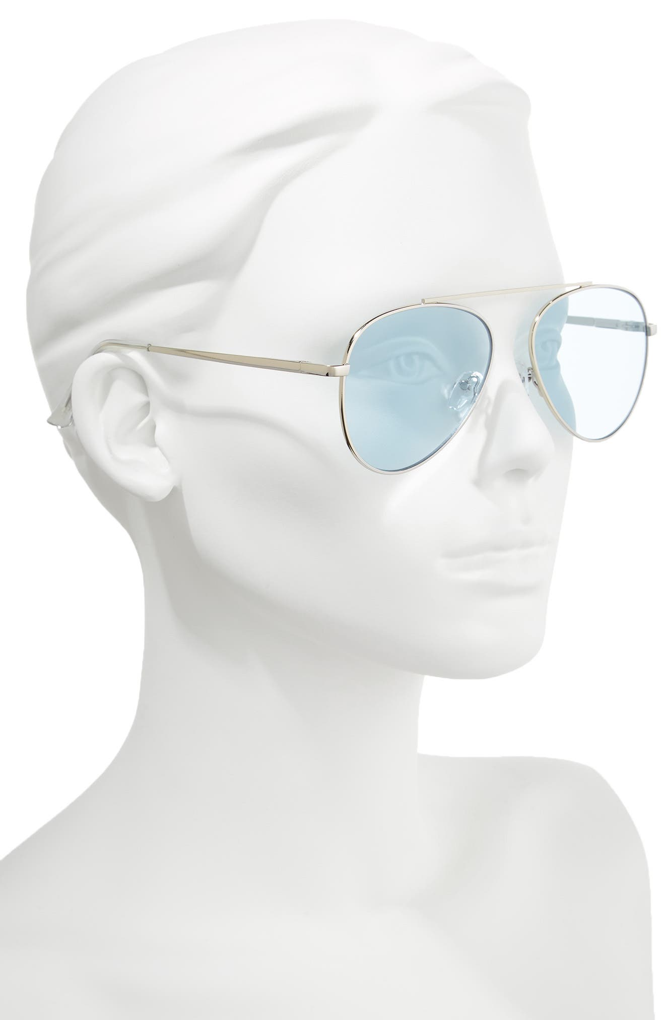 58mm Aviator Sunglasses,                             Alternate thumbnail 2, color,                             040