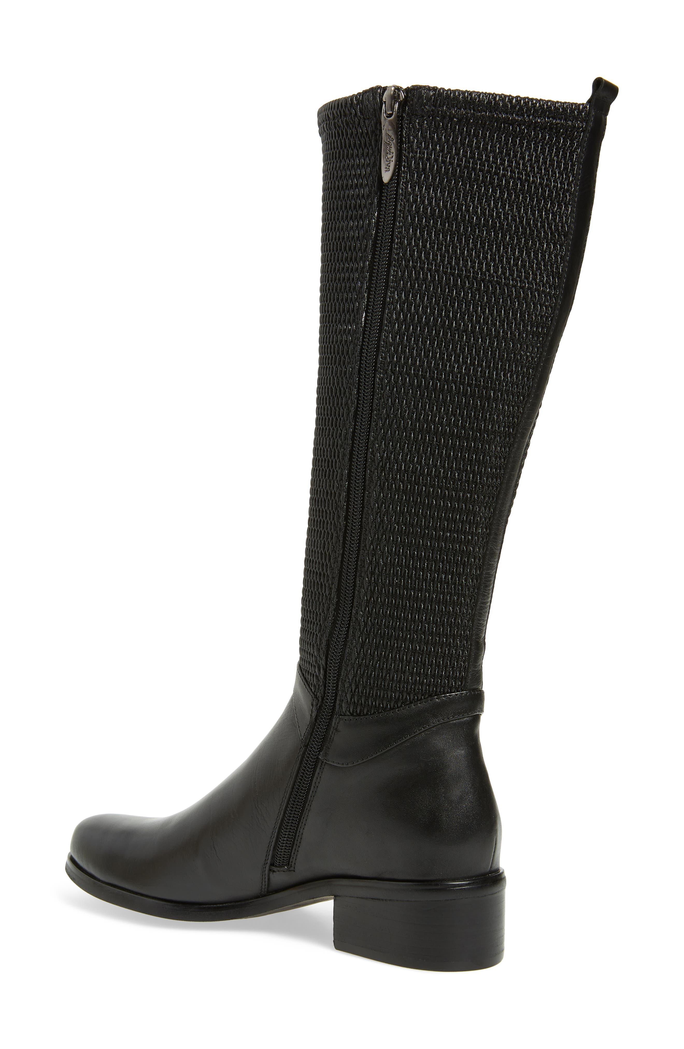 AQUADIVA,                             Kallena Waterproof Knee High Boot,                             Alternate thumbnail 2, color,                             BLACK LEATHER