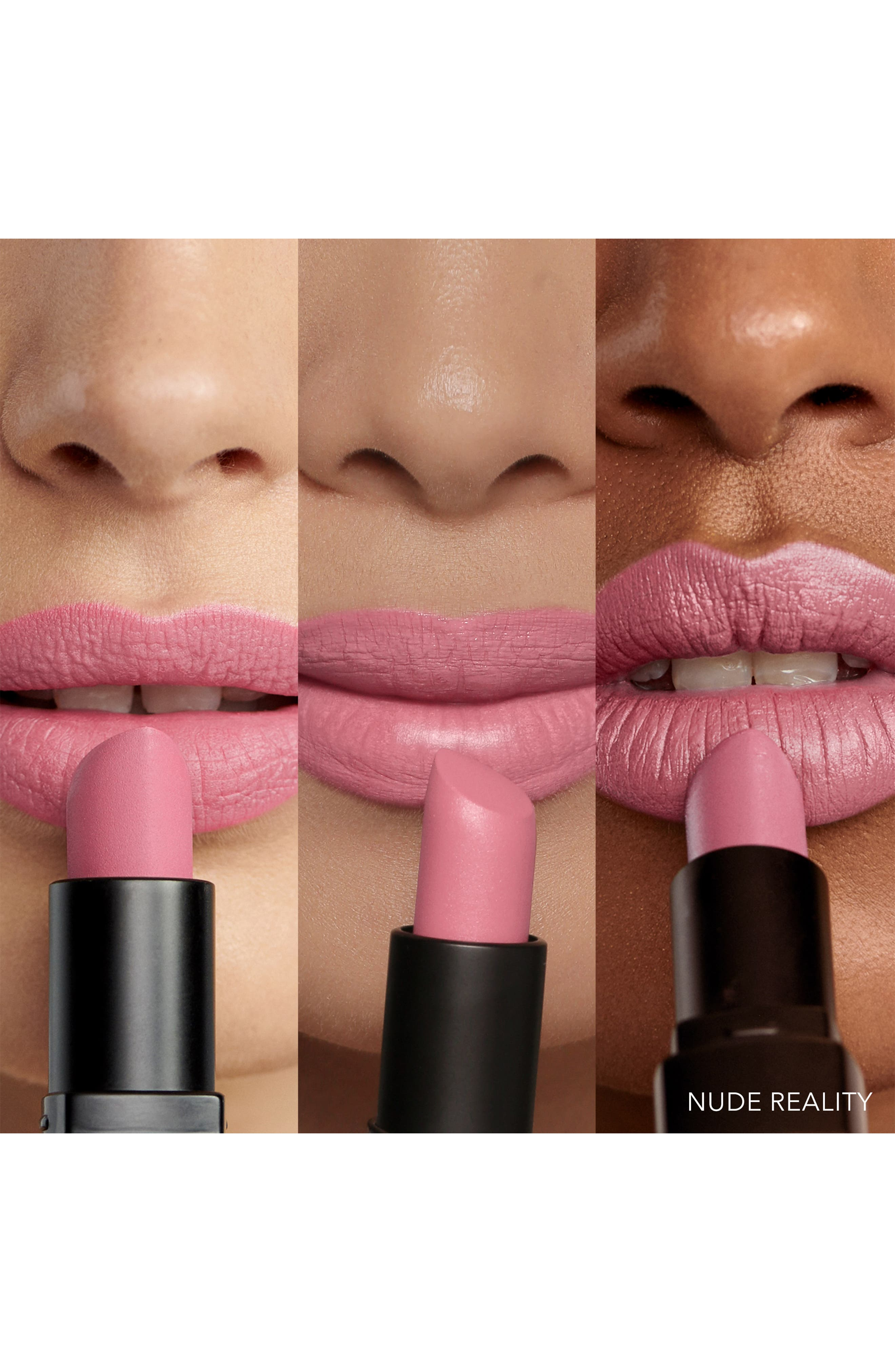 Luxe Matte Lipstick,                             Alternate thumbnail 3, color,                             NUDE REALITY