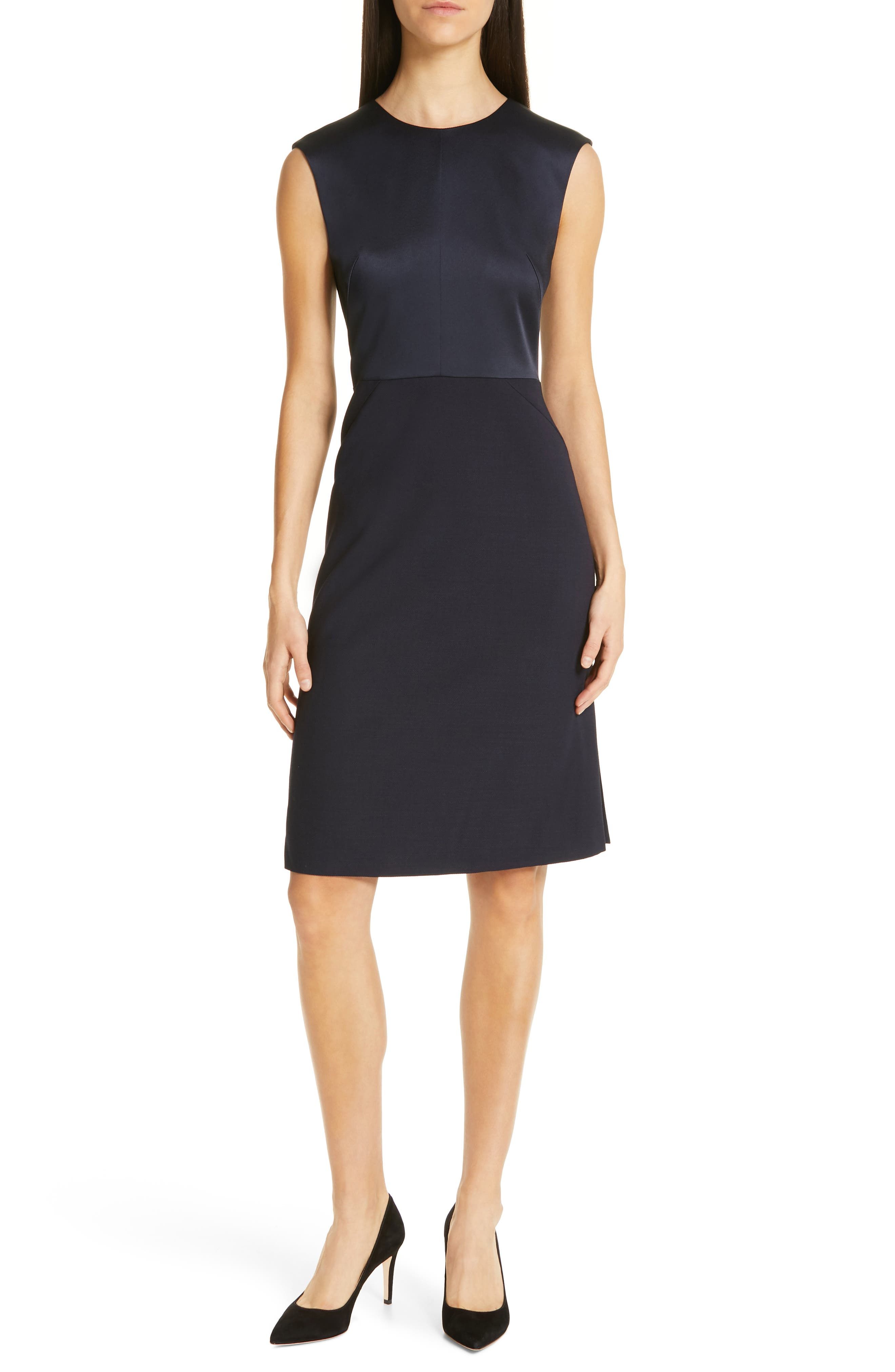 Boss Dikasana Sleeveless Sheath Dress, Blue